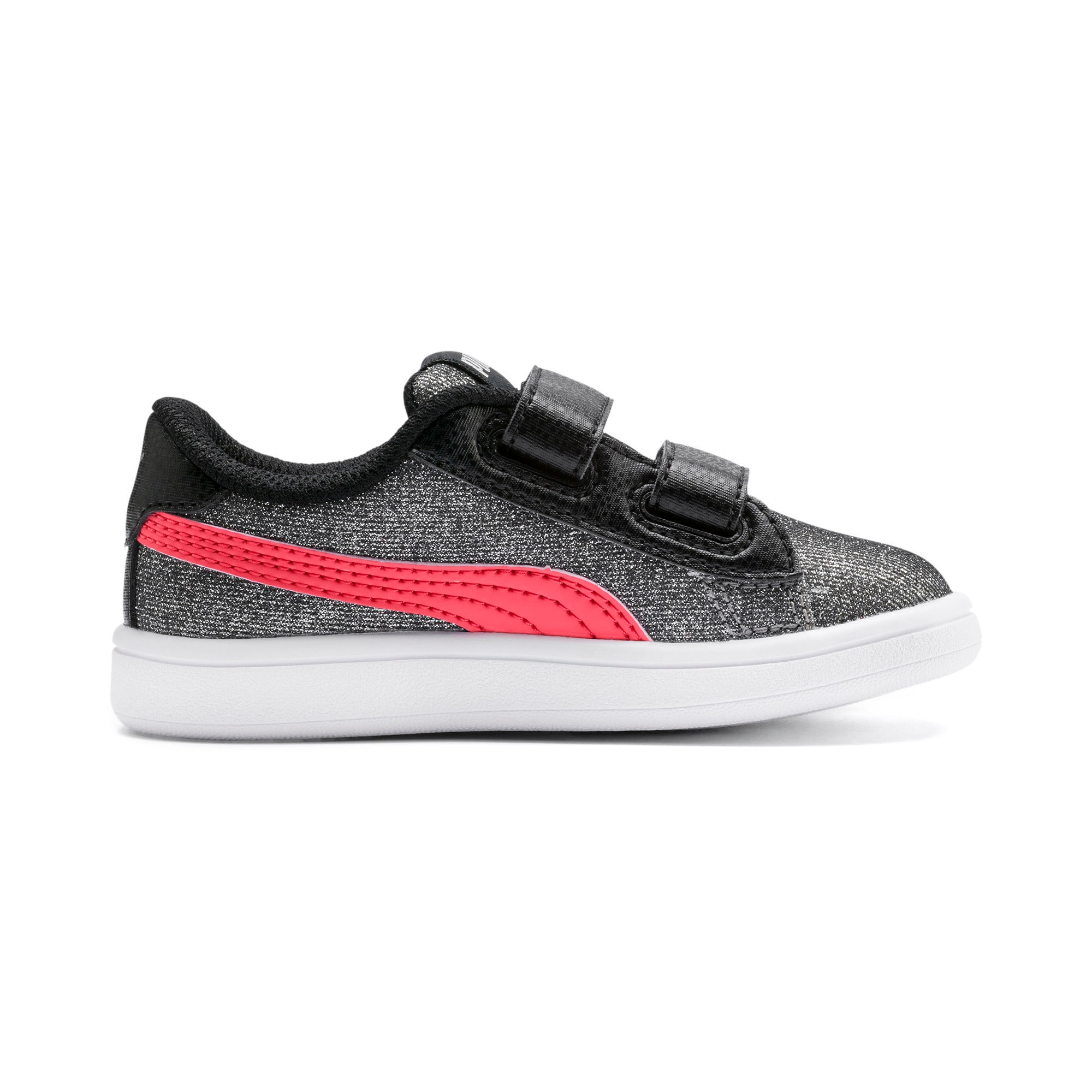 Thumbnail 5 of PUMA Smash v2 Glitz Glam Baby Girls' Trainers, Puma Black-Calypso Coral, medium