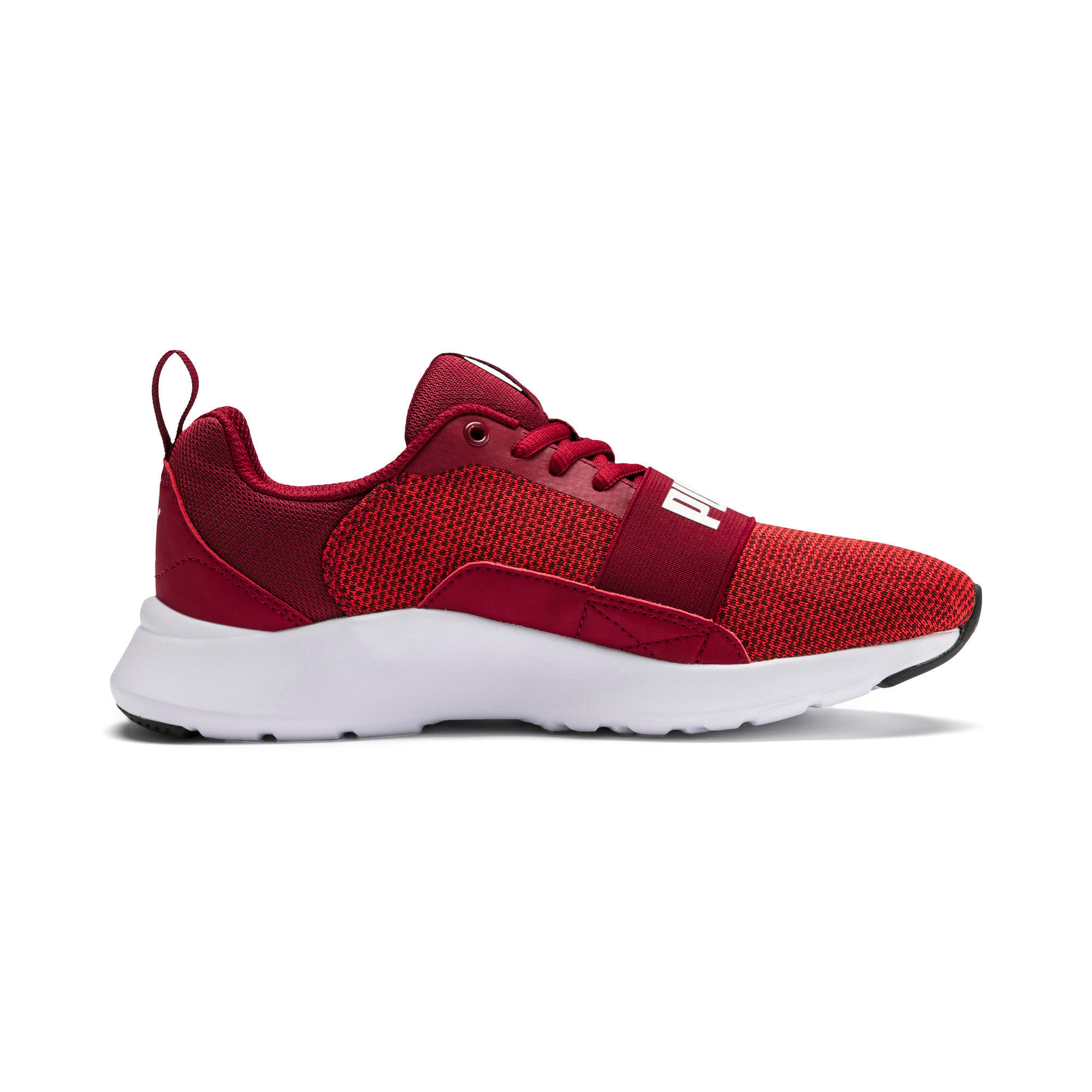 Thumbnail 3 of Wired Knit Youth Trainers, Rhubarb-Puma White, medium-IND