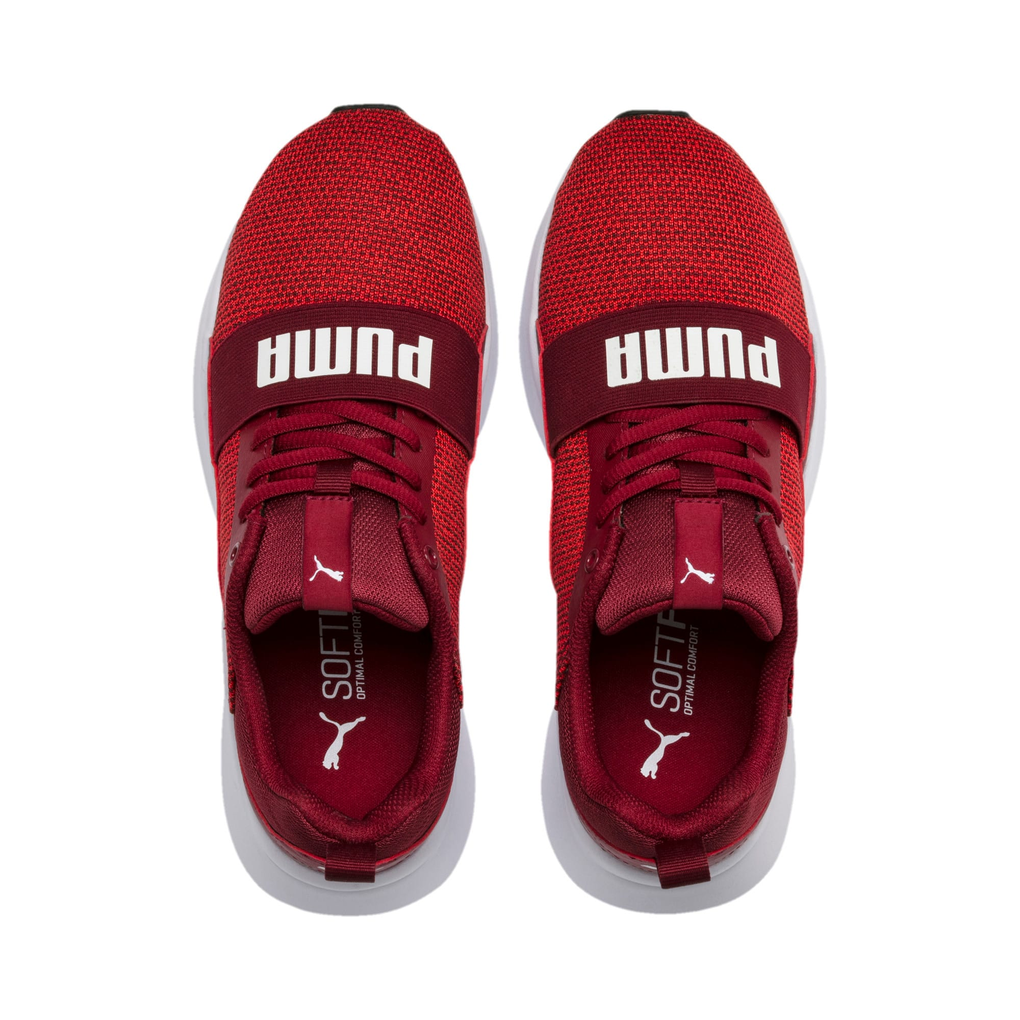 Thumbnail 2 of Wired Knit Youth Trainers, Rhubarb-Puma White, medium-IND