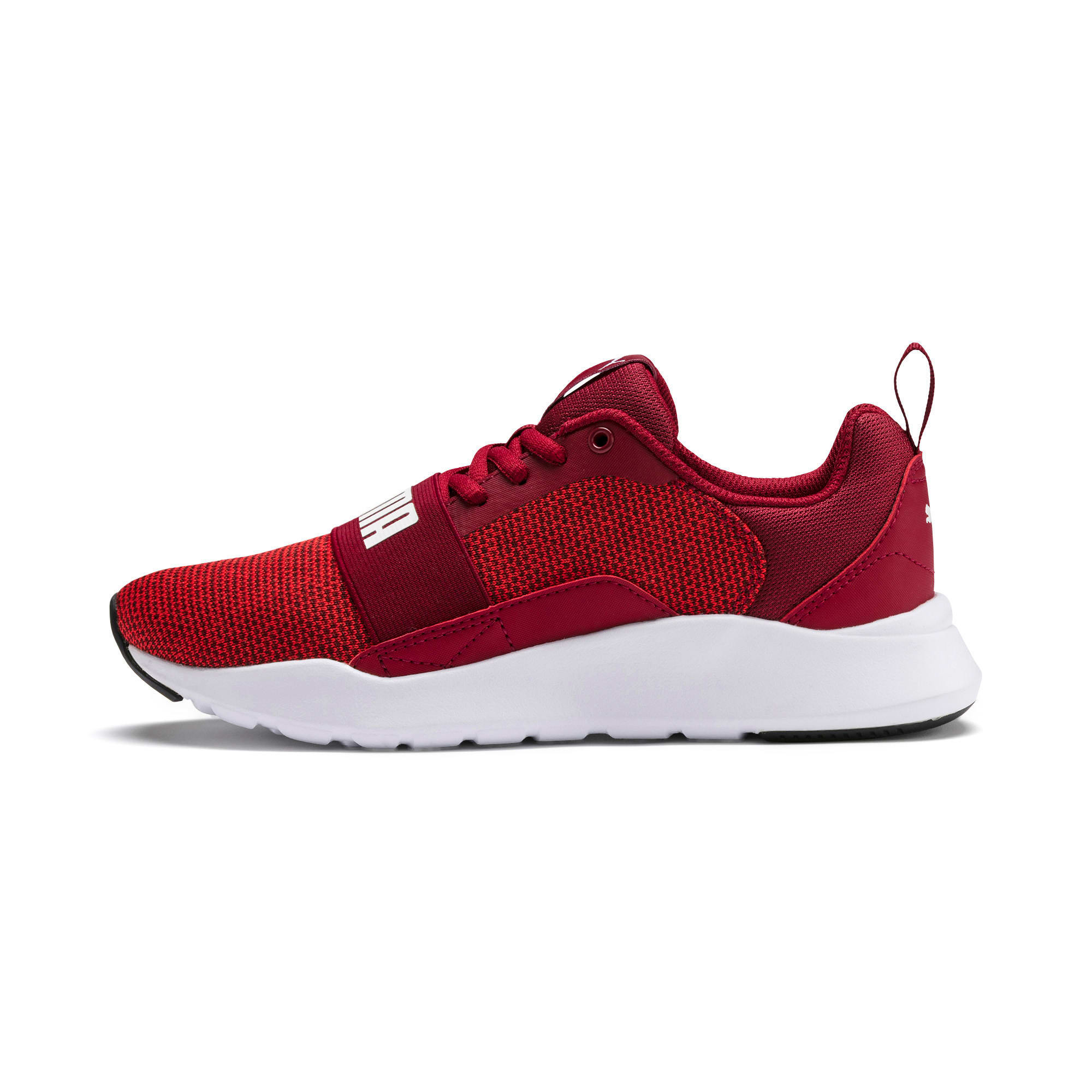 Thumbnail 1 of Wired Knit Youth Trainers, Rhubarb-Puma White, medium-IND