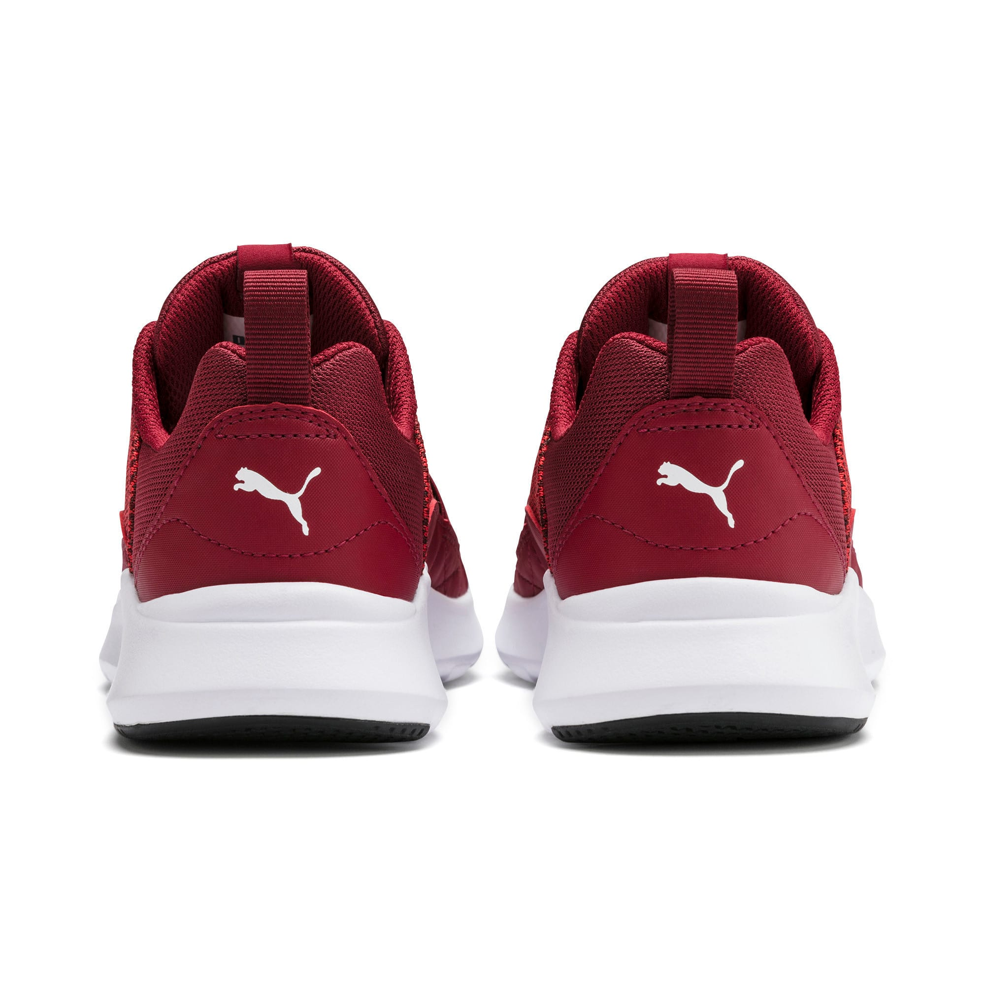 Thumbnail 4 of Wired Knit Youth Trainers, Rhubarb-Puma White, medium-IND