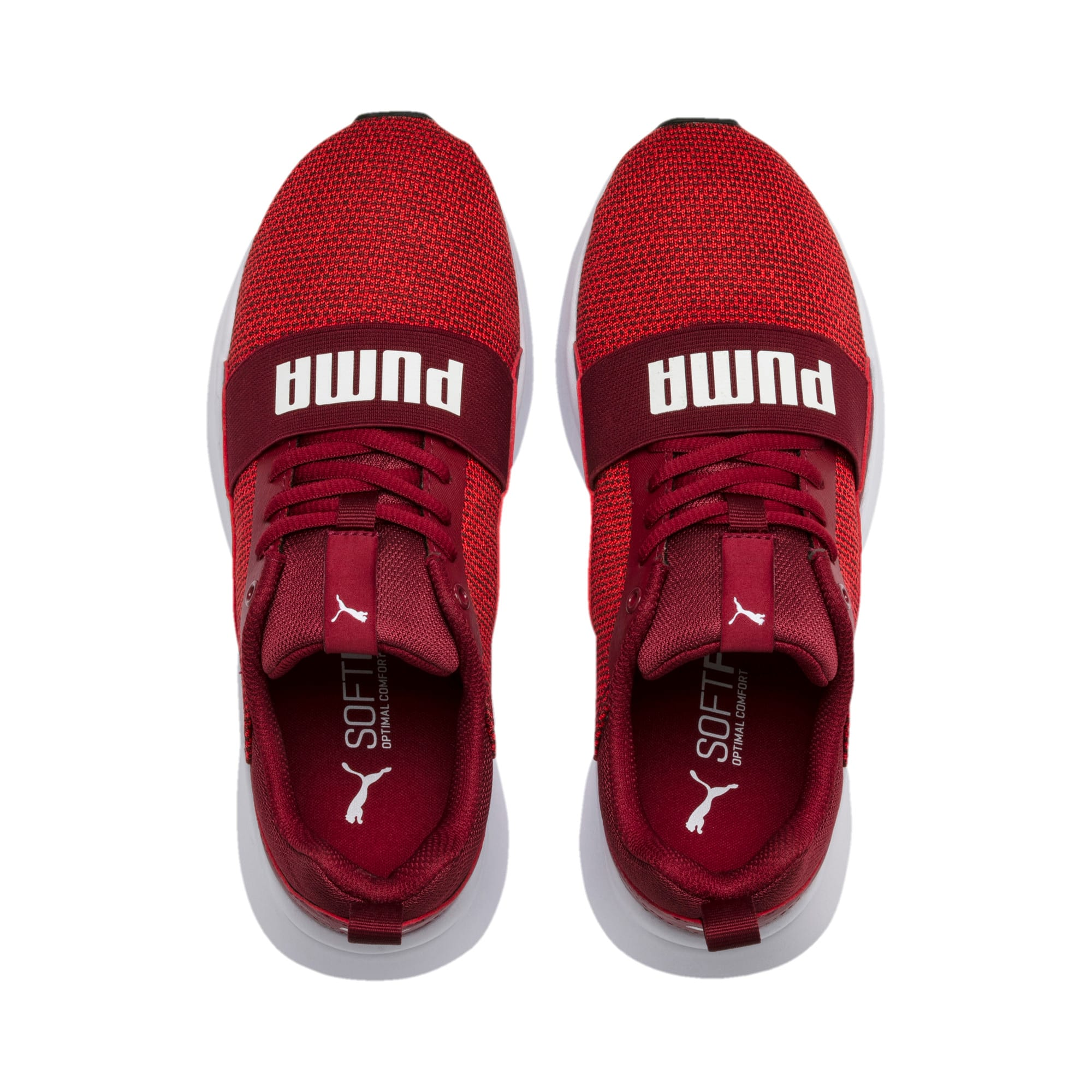 Thumbnail 6 of Wired Knit Youth Trainers, Rhubarb-Puma White, medium-IND