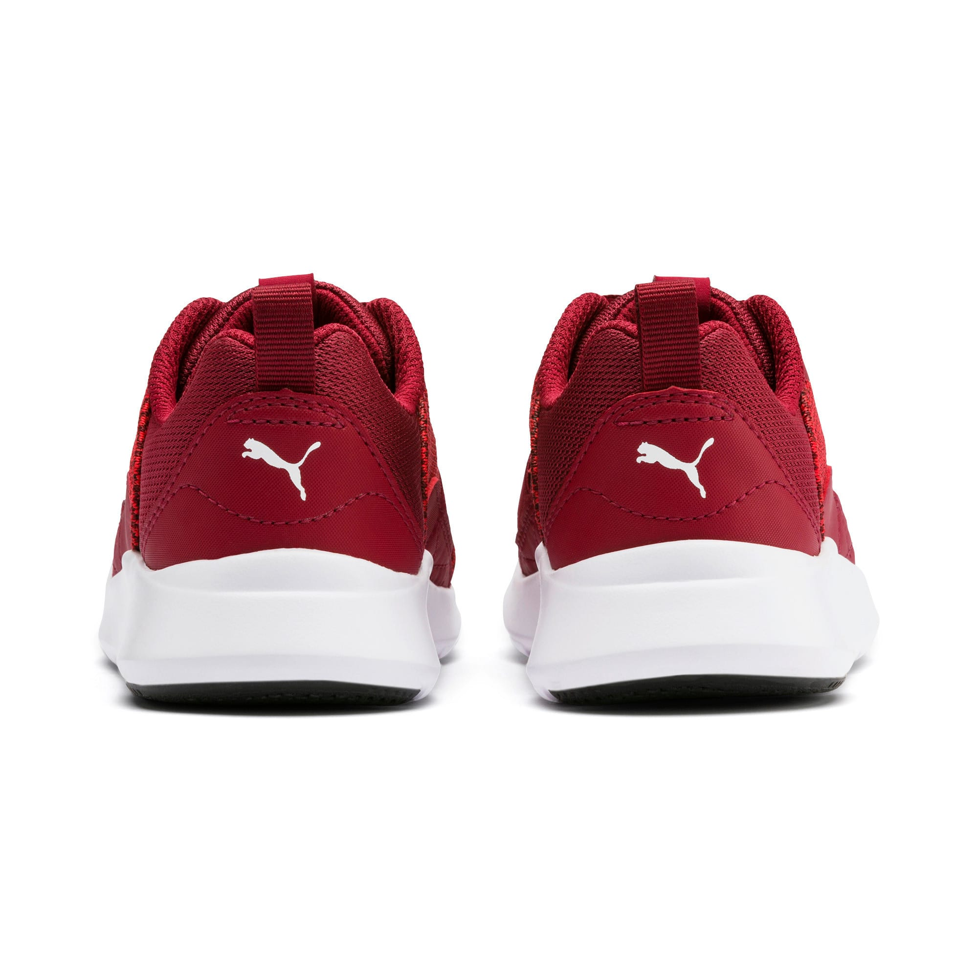 Thumbnail 4 of Wired Knit Kids' Trainers, Rhubarb-Puma White, medium-IND