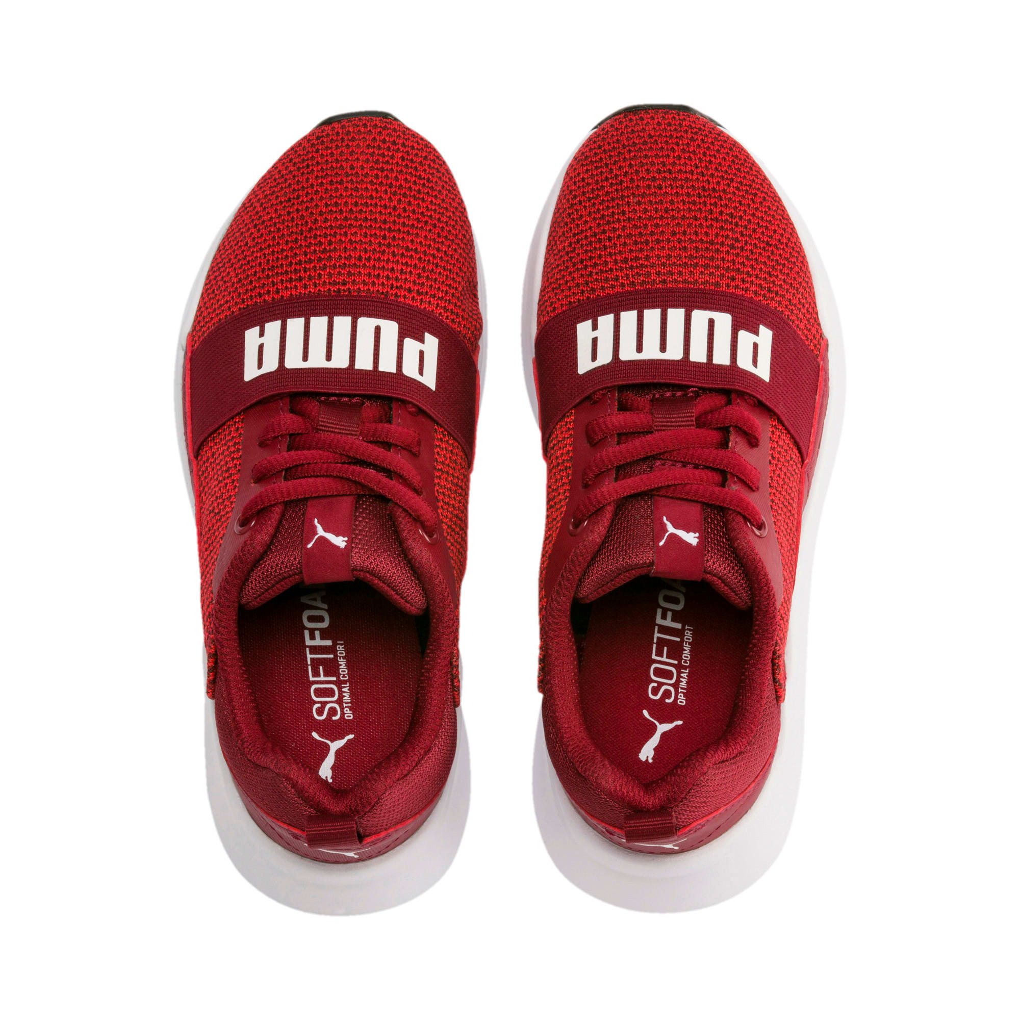 Thumbnail 3 of Wired Knit Kids' Trainers, Rhubarb-Puma White, medium-IND