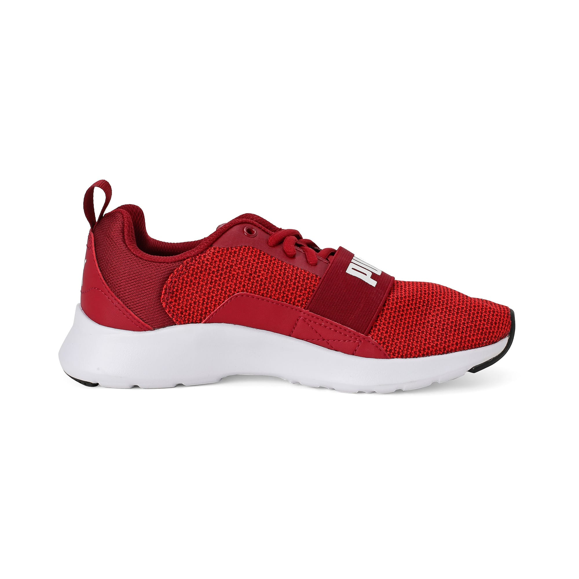 Thumbnail 2 of Wired Knit Kids' Trainers, Rhubarb-Puma White, medium-IND