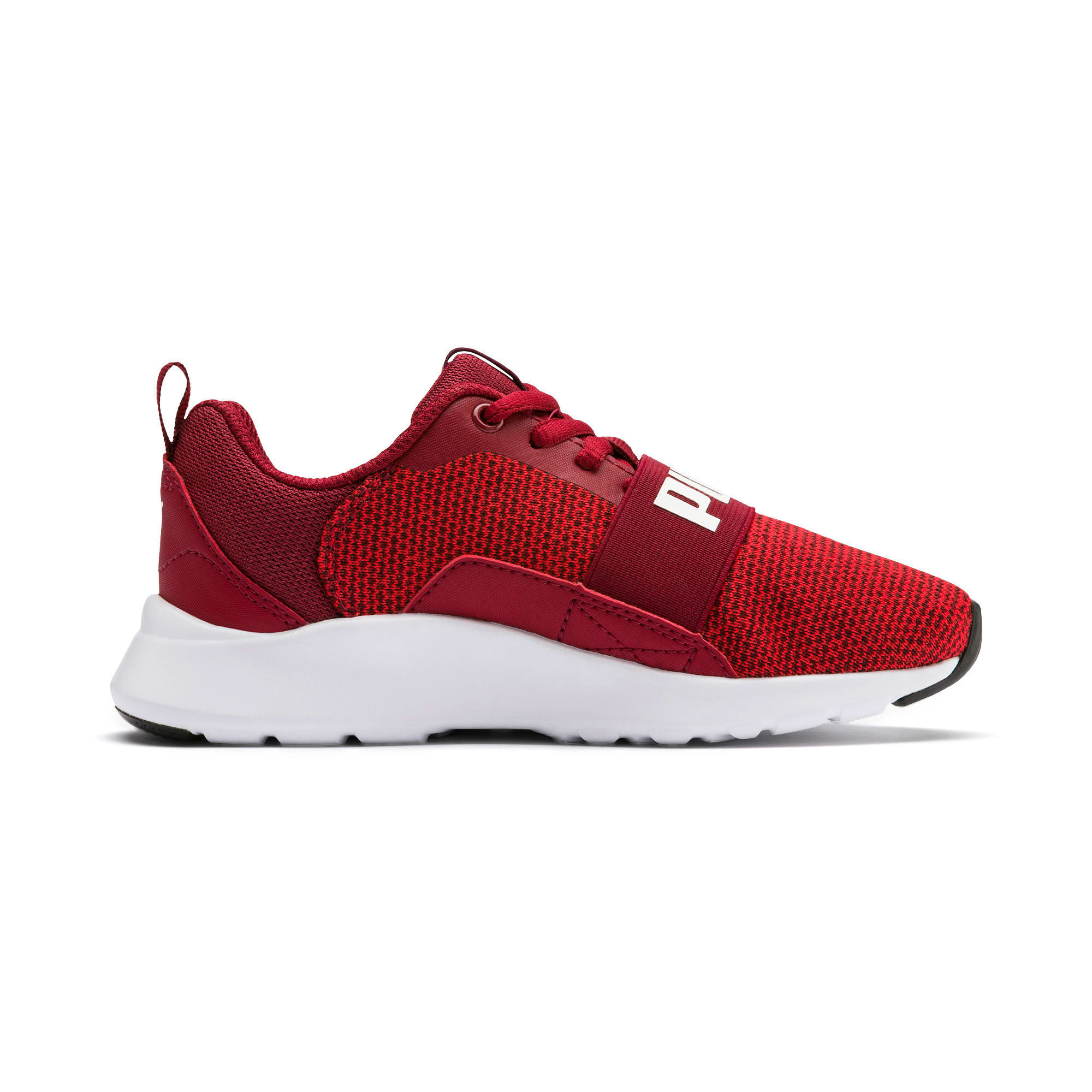 Thumbnail 6 of Wired Knit Kids' Trainers, Rhubarb-Puma White, medium-IND