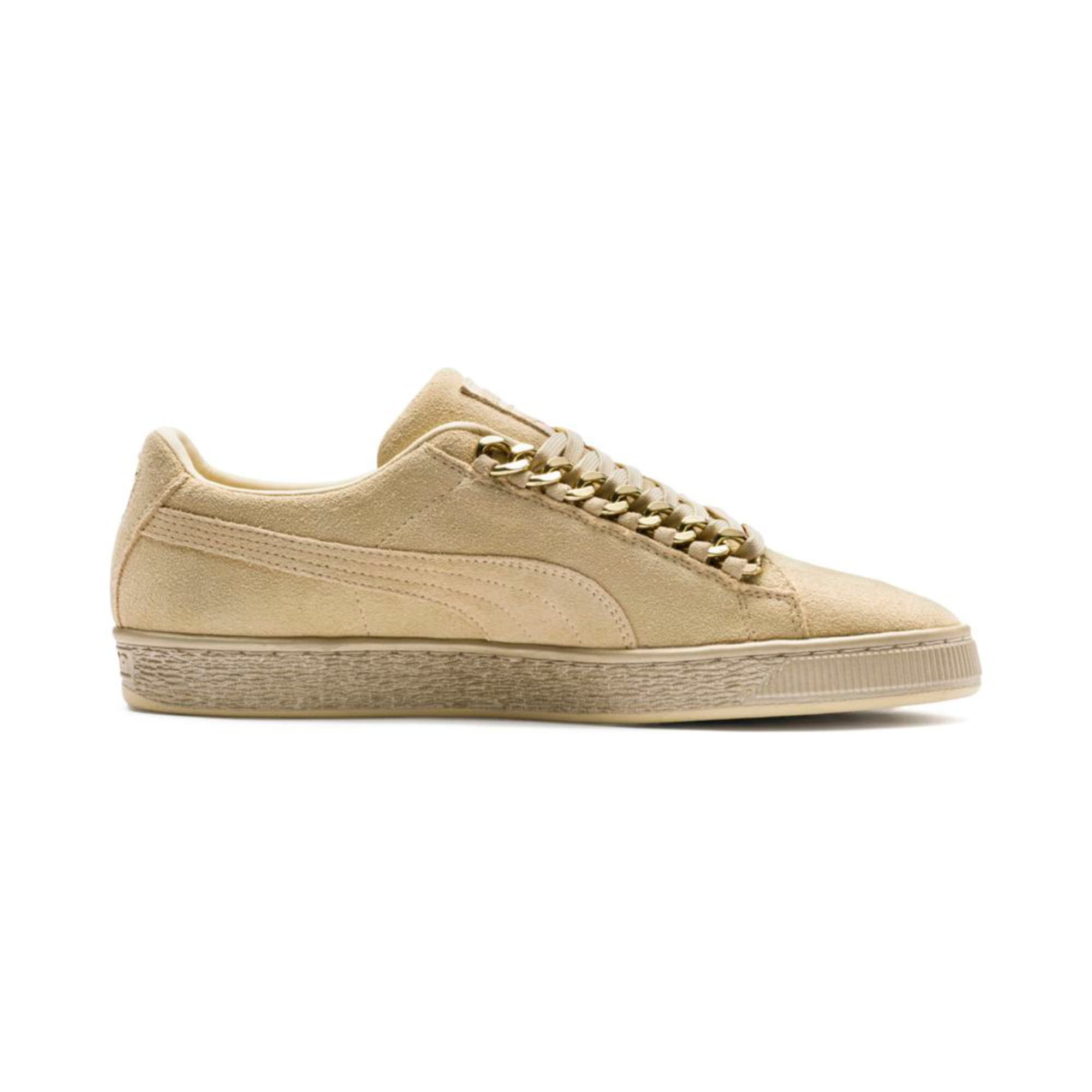Thumbnail 5 of Suede Classic X-chains Trainers, Reed Yellow-Metallic Gold, medium-IND