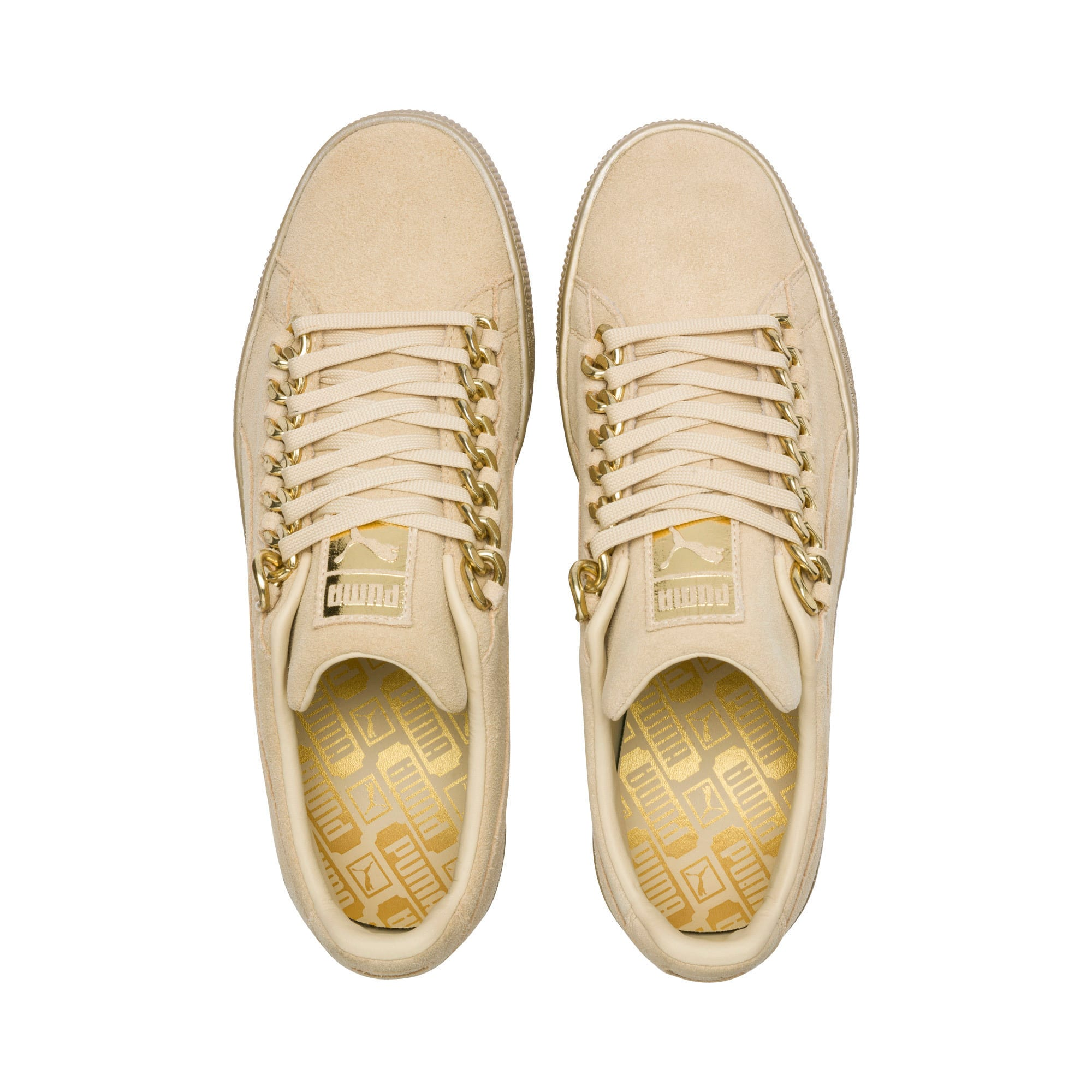 Thumbnail 6 of Suede Classic X-chains Trainers, Reed Yellow-Metallic Gold, medium-IND