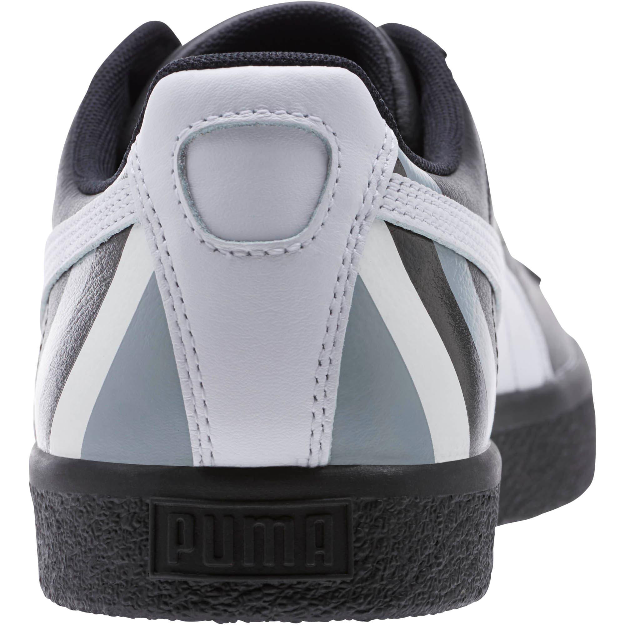 Thumbnail 4 of Clyde Stripes Men's Sneakers, Puma Black-Puma White, medium