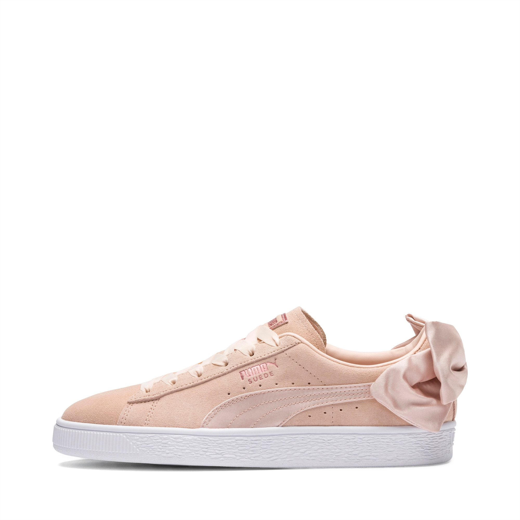 puma suede with bow