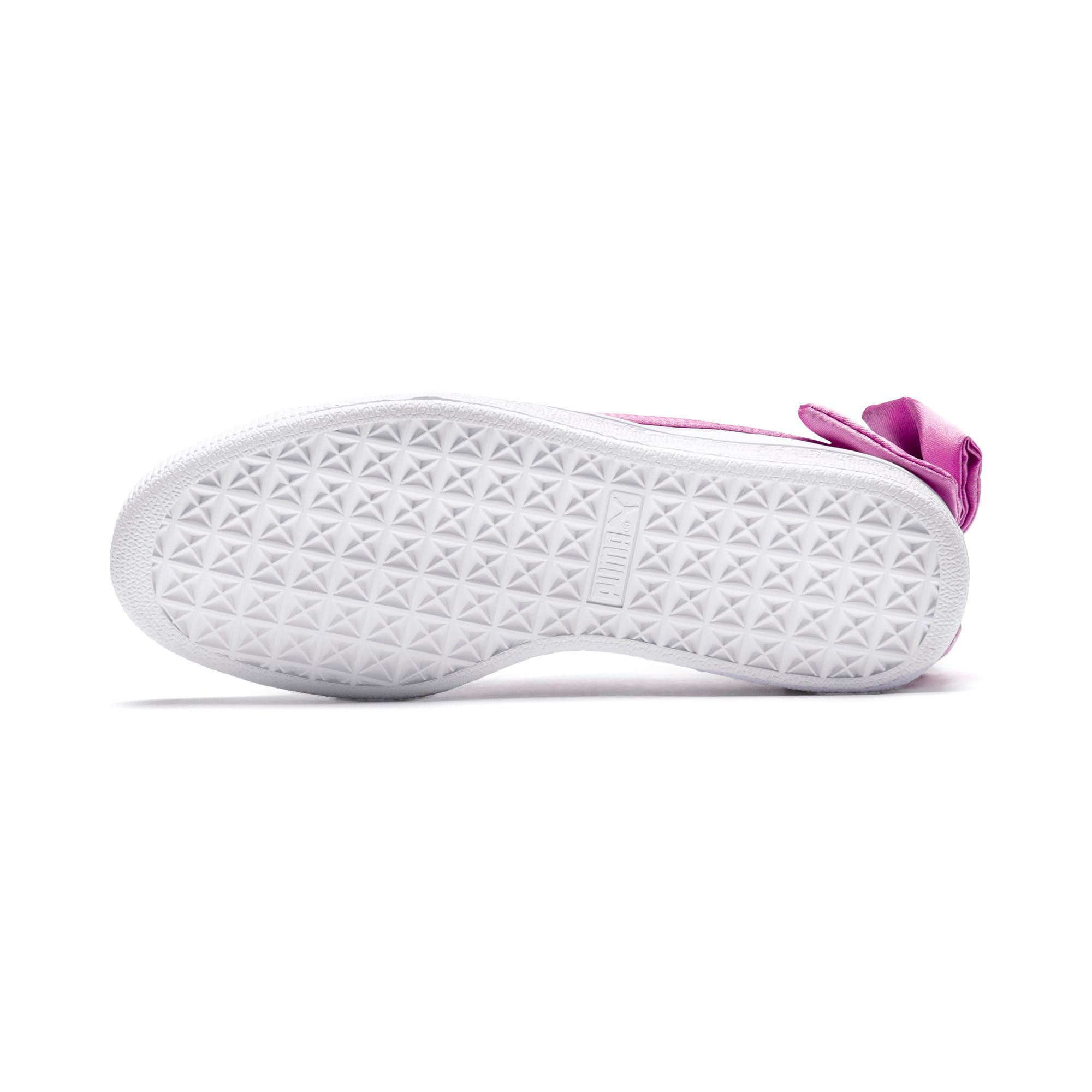 Thumbnail 4 of Basket Bow Patent Kids' Trainers, Puma White-Orchid-Gray, medium-IND