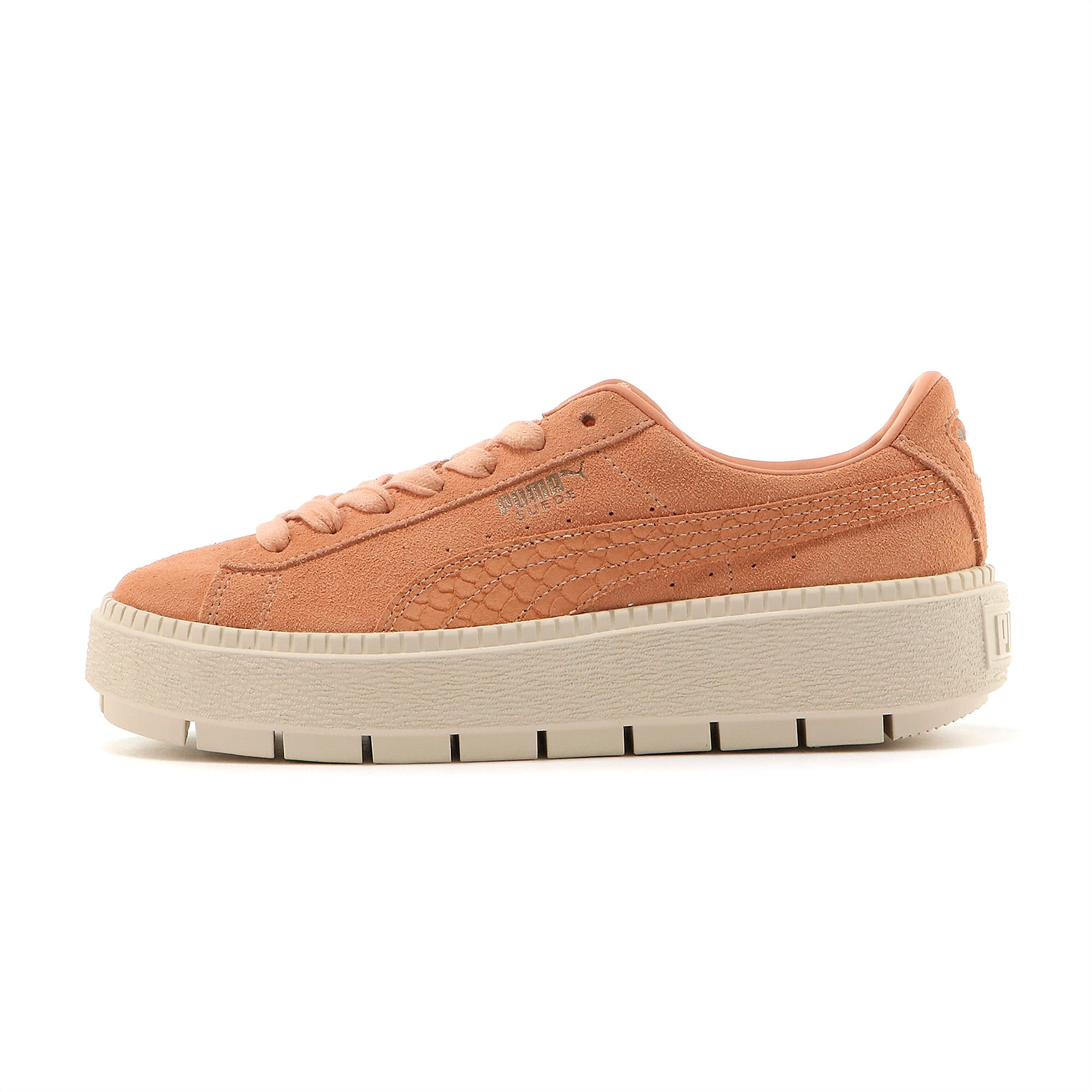 Suede Platform Trace Animal Dusty Coral Women's Trainers