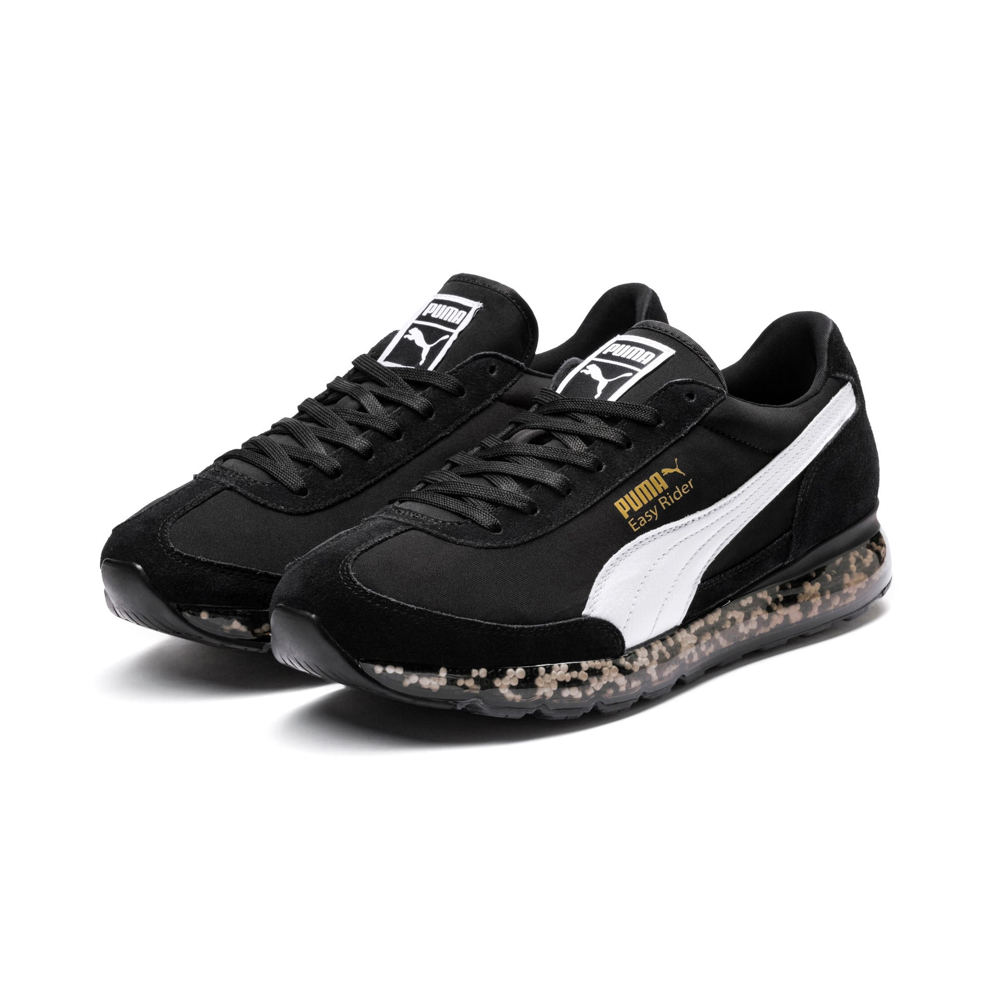 Jamming Easy Rider Running Shoes, Puma Black-Puma White, large