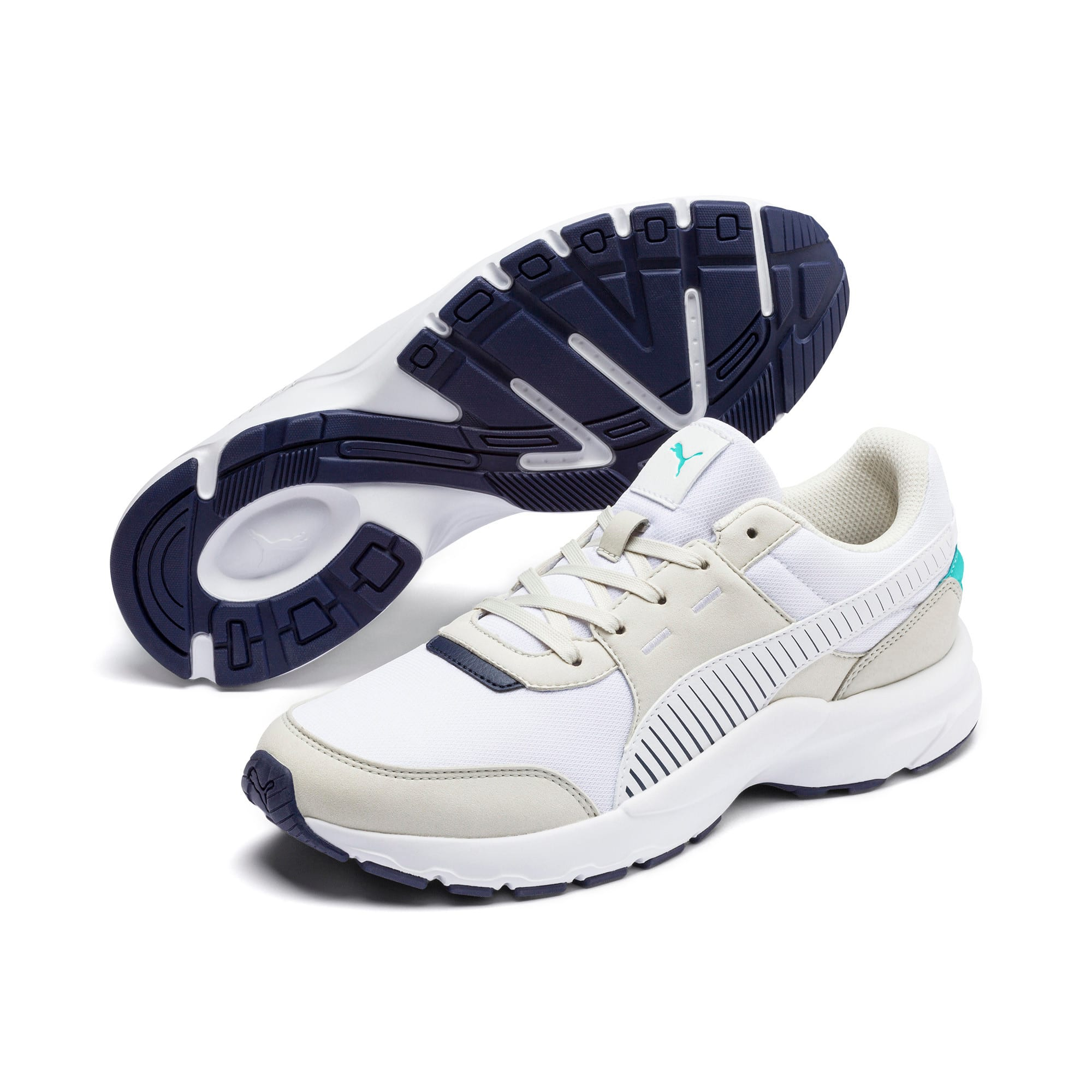 Thumbnail 3 of Future Runner Running Shoes, Wht-G Gray-Peacoat-Turquoise, medium