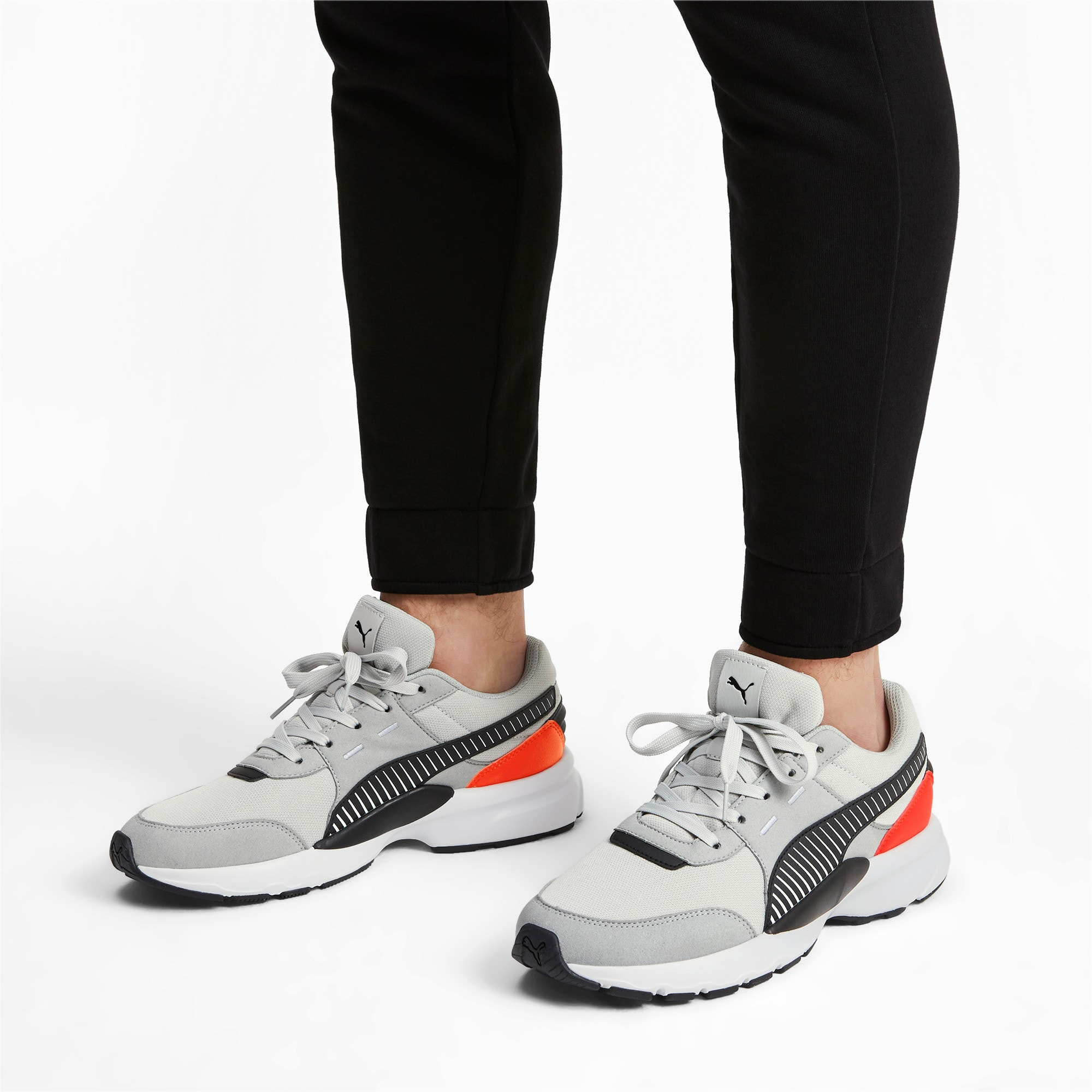 Thumbnail 2 of Future Runner Running Shoes, High Rise-Black-C Tomato-Wht, medium-IND