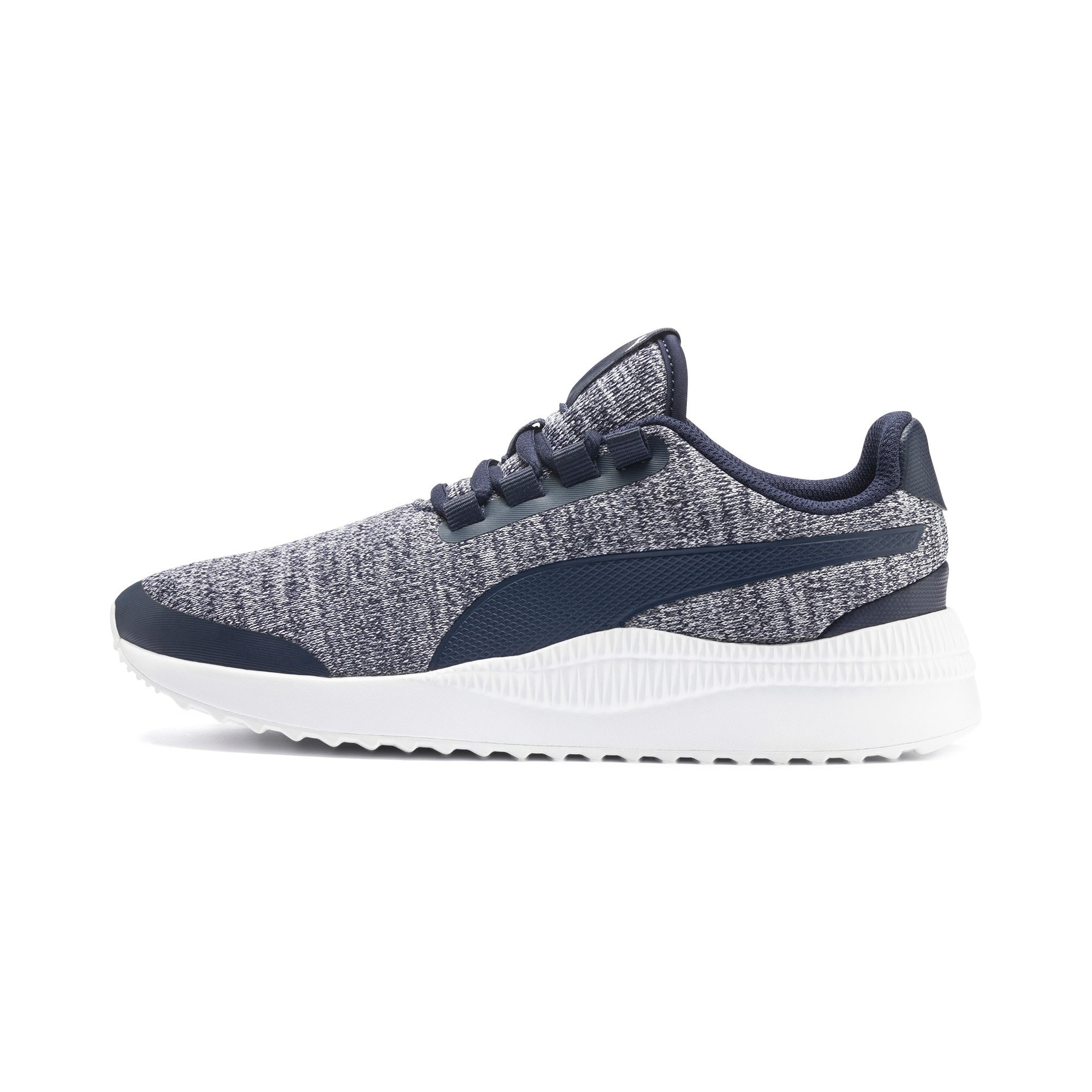 Thumbnail 1 of Pacer Next FS Knit Kinder Sneaker, Peacoat-Puma White, medium