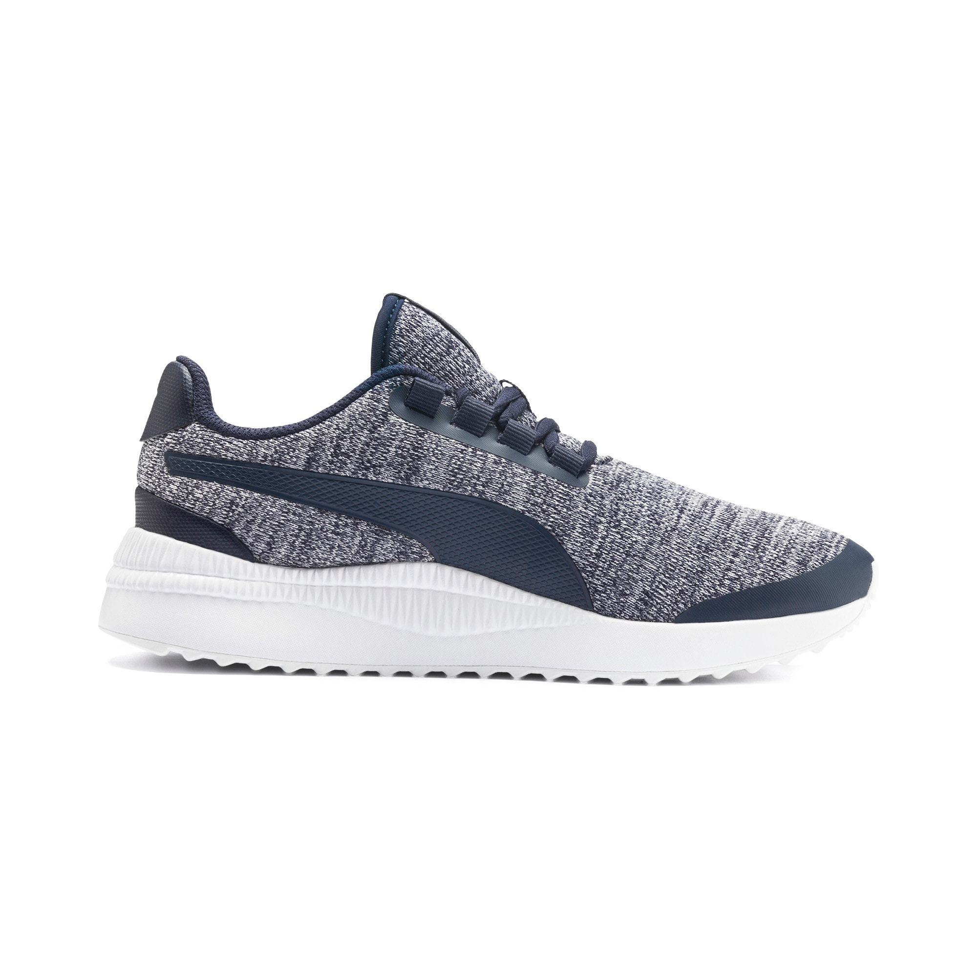 Thumbnail 5 of Pacer Next FS Knit Kinder Sneaker, Peacoat-Puma White, medium