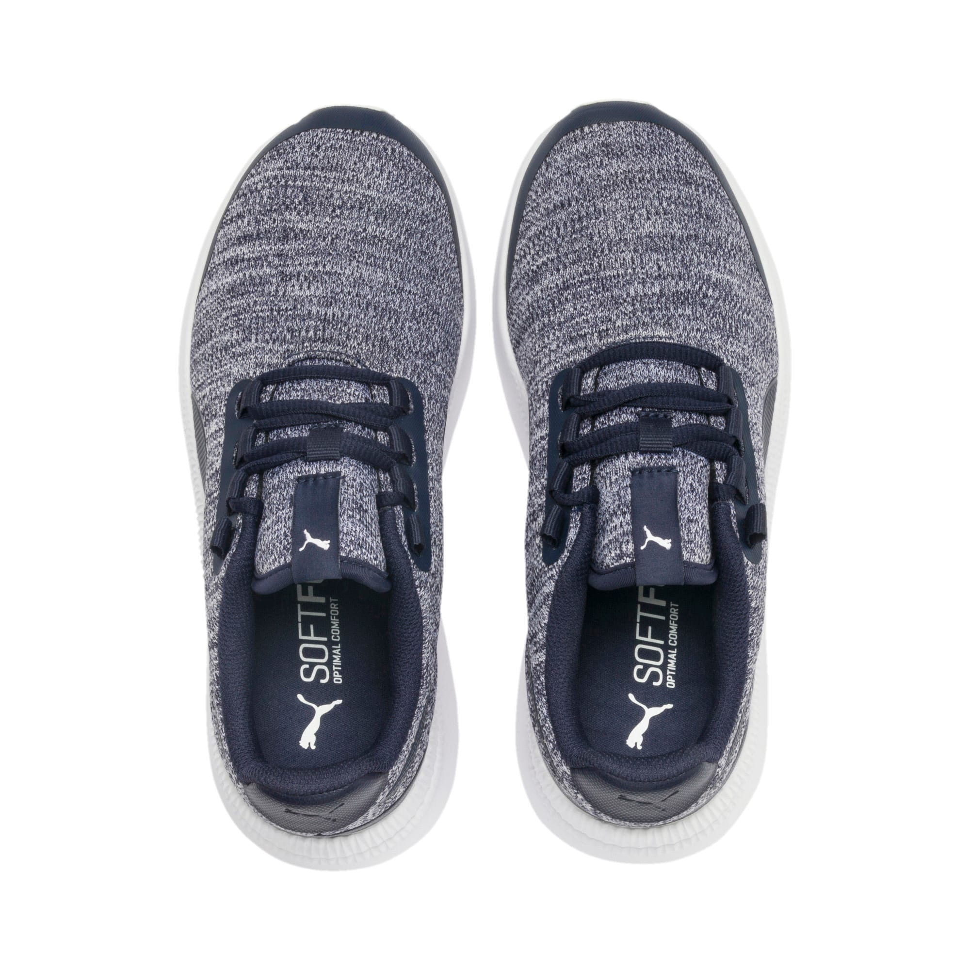 Thumbnail 6 of Pacer Next FS Knit Kinder Sneaker, Peacoat-Puma White, medium