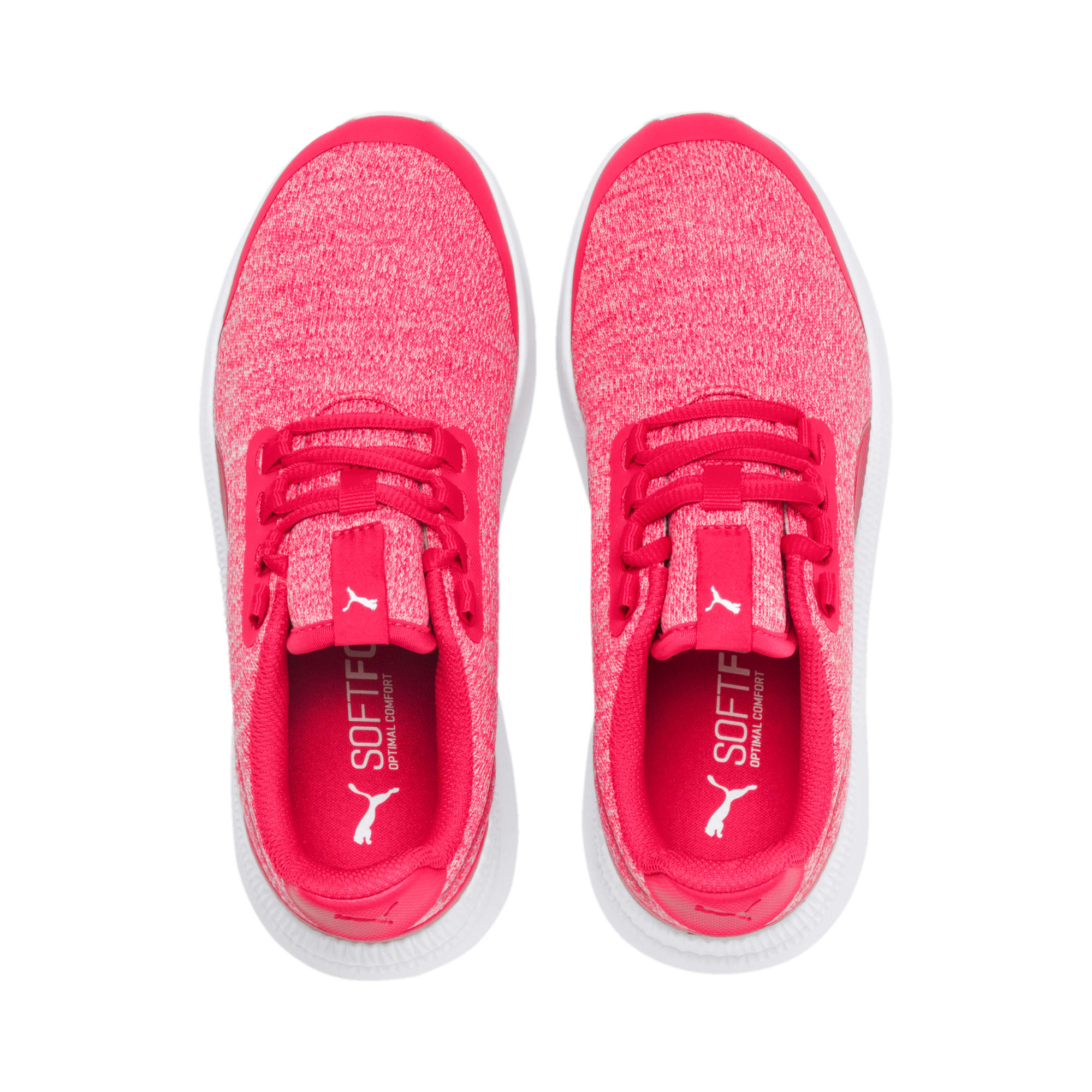 Thumbnail 6 of Pacer Next FS Knit Kinder Sneaker, Nrgy Rose-Puma White, medium