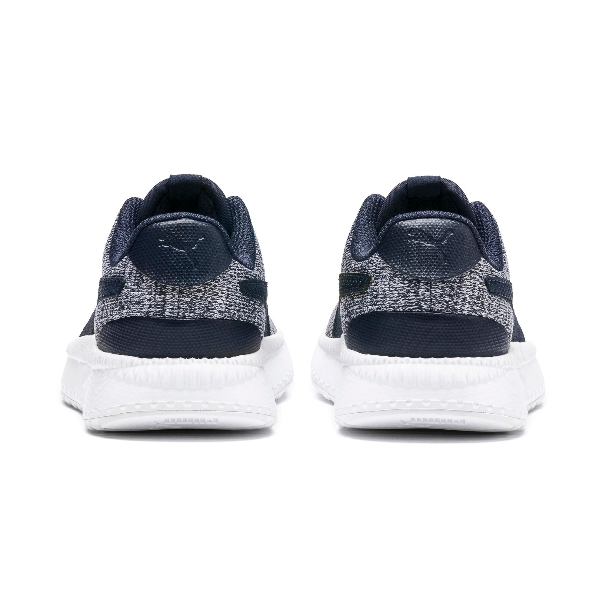 Thumbnail 3 of Pacer Next FS Knit AC Kids' Trainers, Peacoat-Puma White, medium-IND