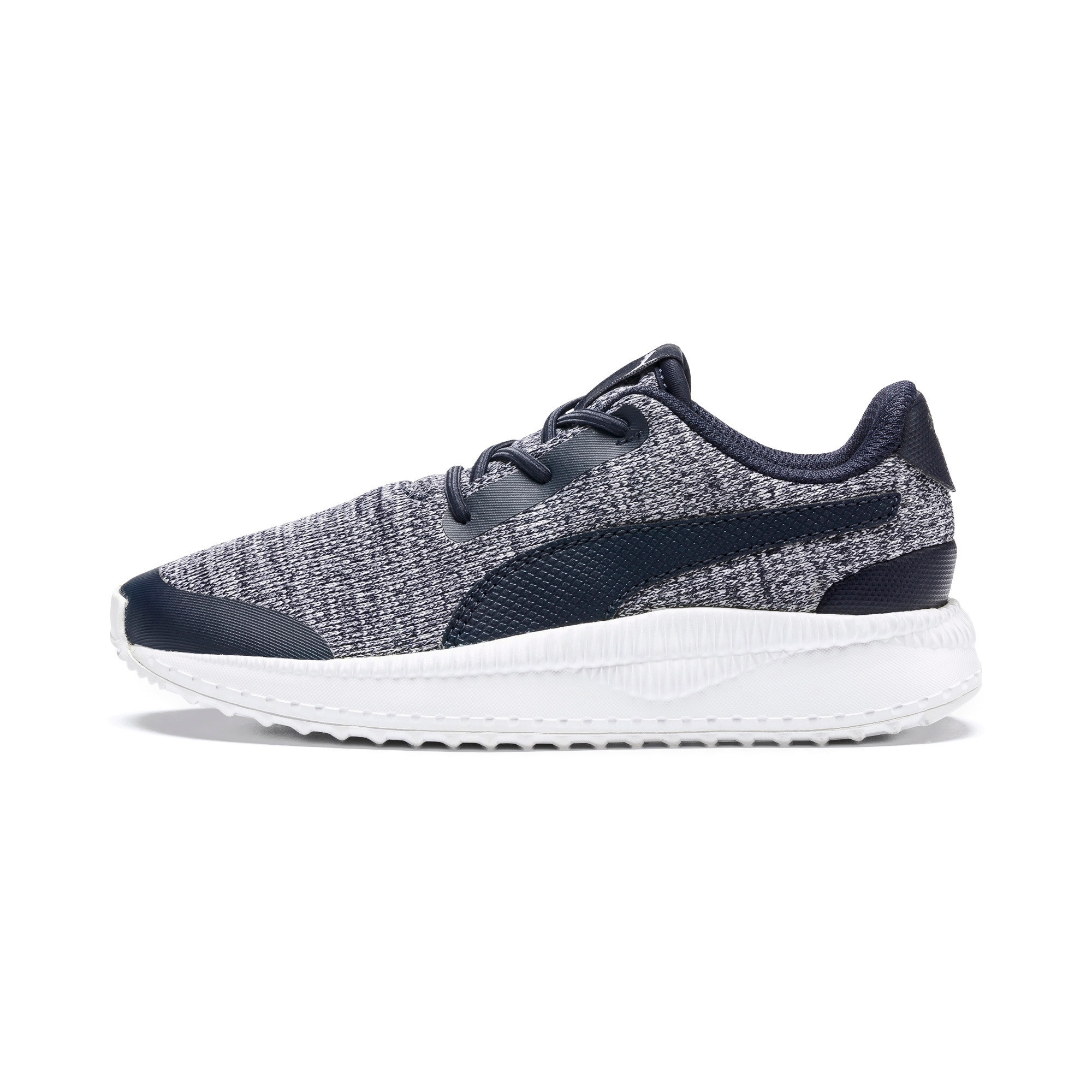 Thumbnail 1 of Pacer Next FS Knit AC Kids' Trainers, Peacoat-Puma White, medium
