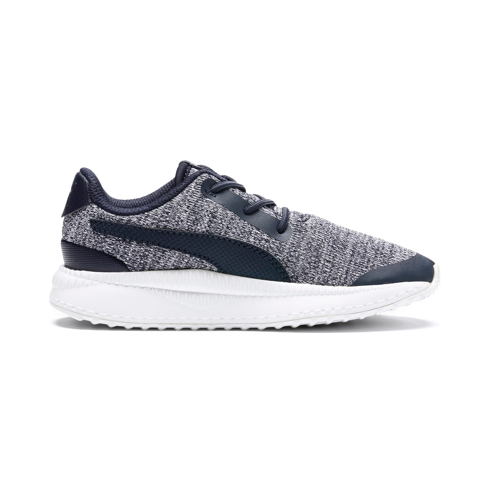 Thumbnail 5 of Pacer Next FS Knit AC Kids' Trainers, Peacoat-Puma White, medium
