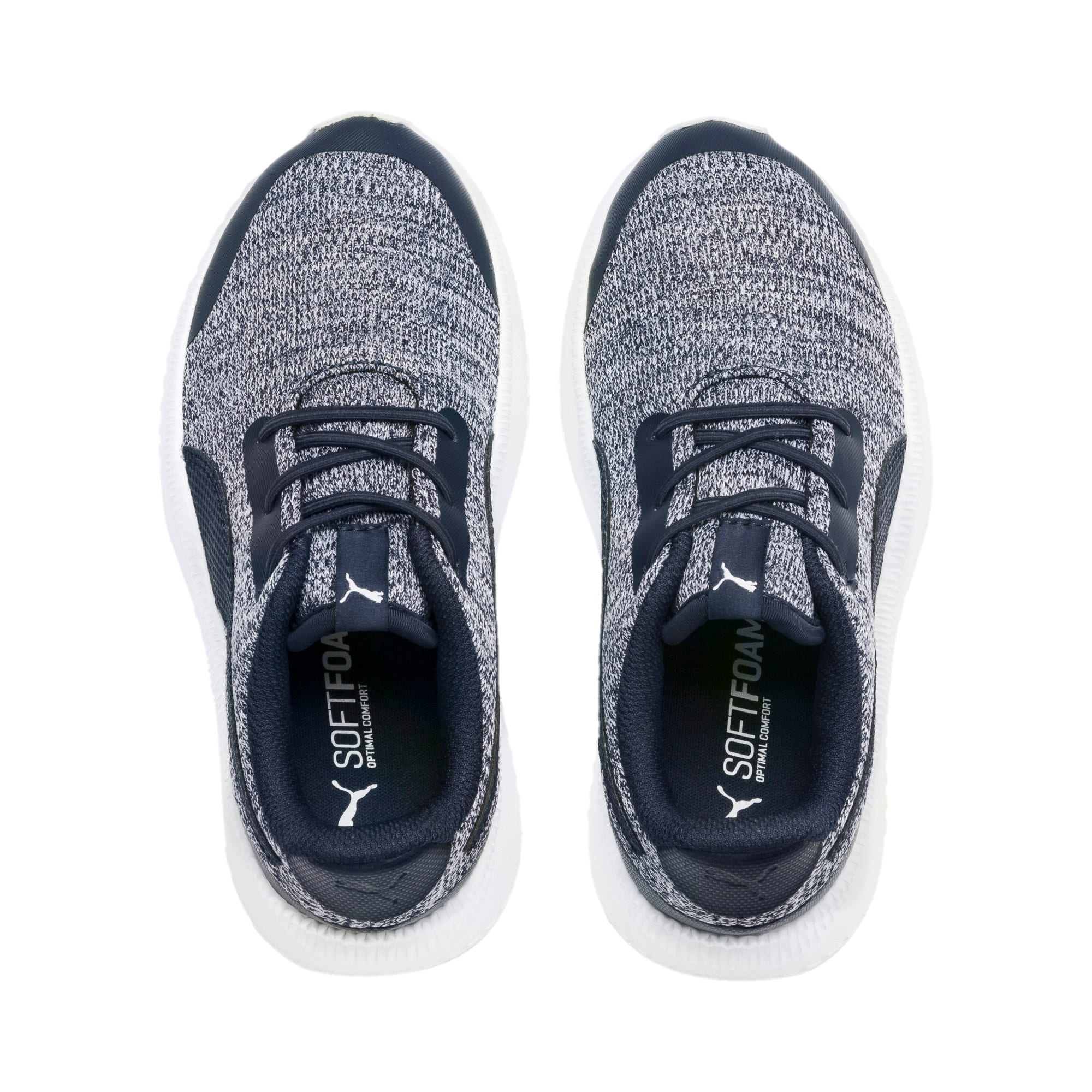 Thumbnail 6 of Pacer Next FS Knit AC Kids' Trainers, Peacoat-Puma White, medium-IND