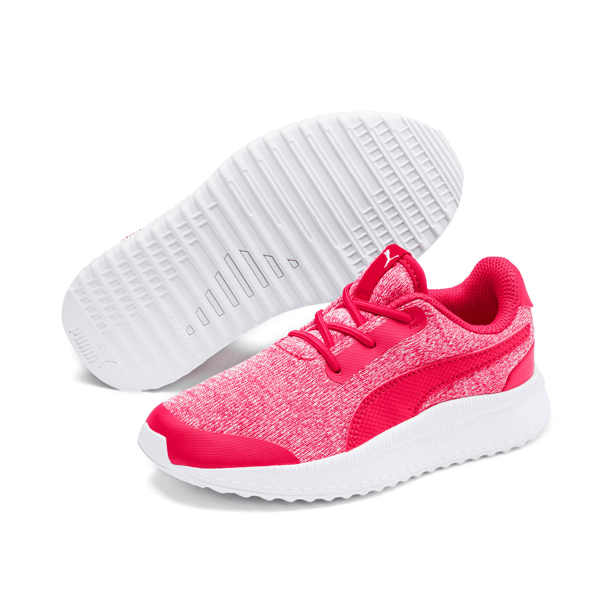 Thumbnail 2 of Pacer Next FS Knit AC Kids Sneaker, Nrgy Rose-Puma White, medium