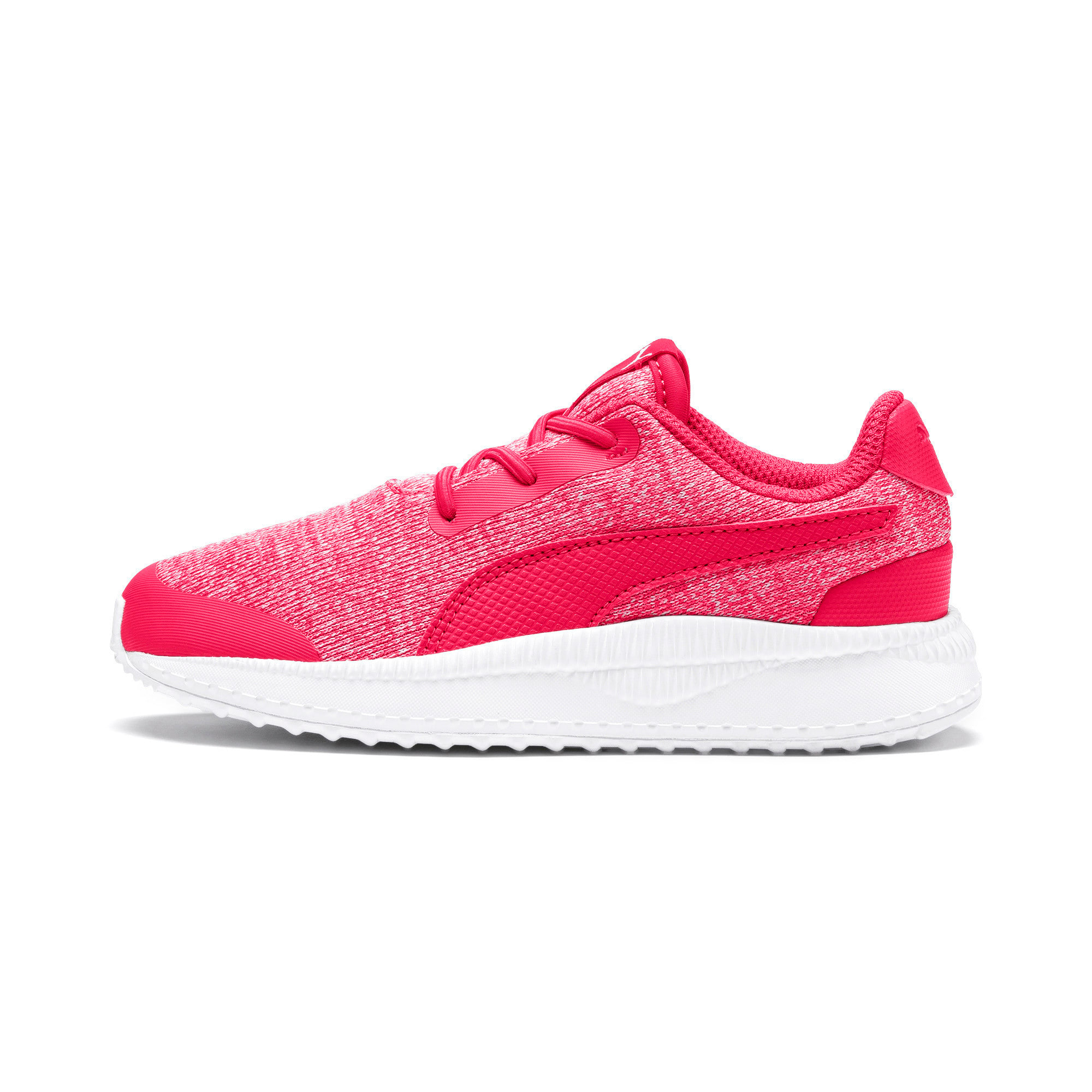Thumbnail 1 of Pacer Next FS Knit AC Kids Sneaker, Nrgy Rose-Puma White, medium
