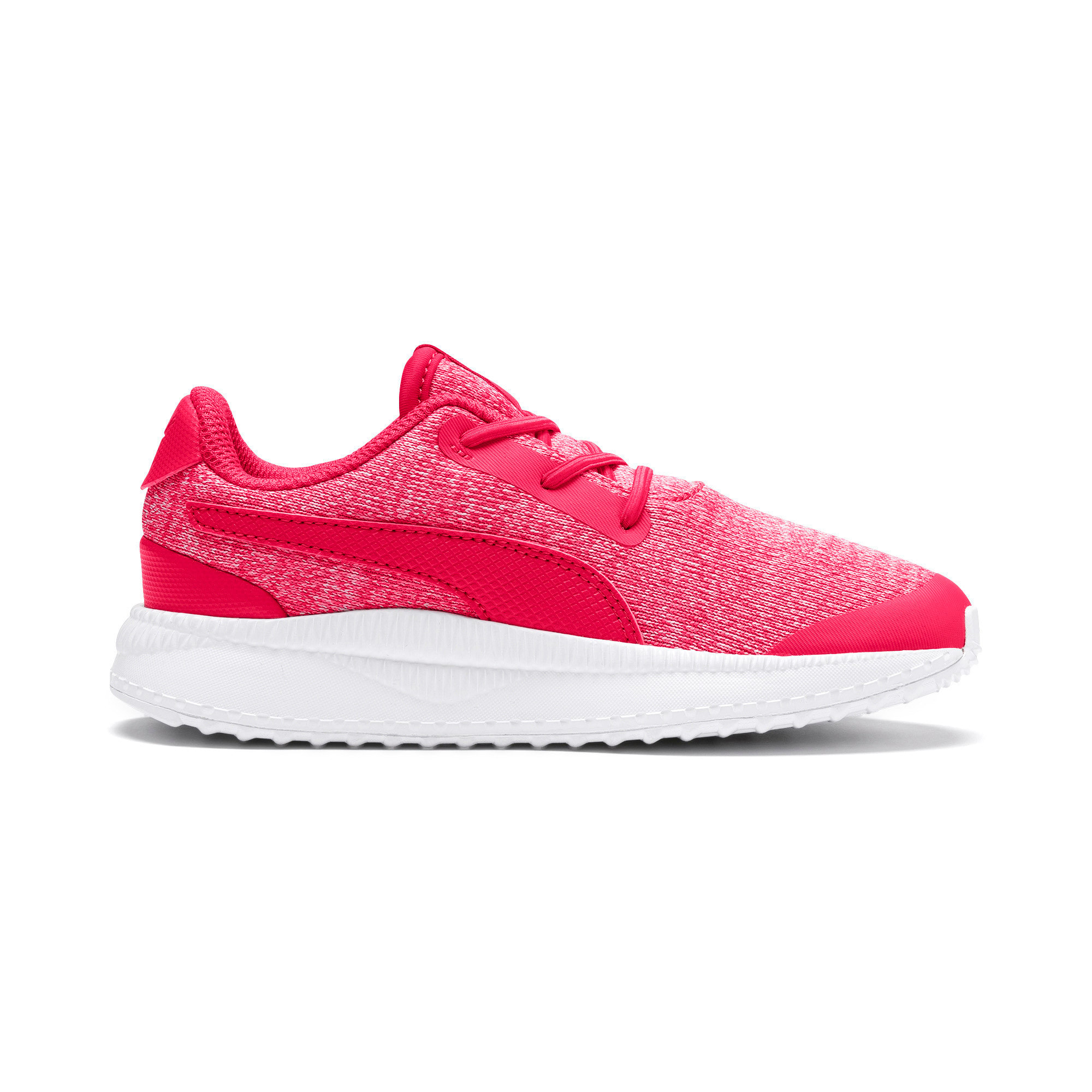Thumbnail 5 of Pacer Next FS Knit AC Kids Sneaker, Nrgy Rose-Puma White, medium