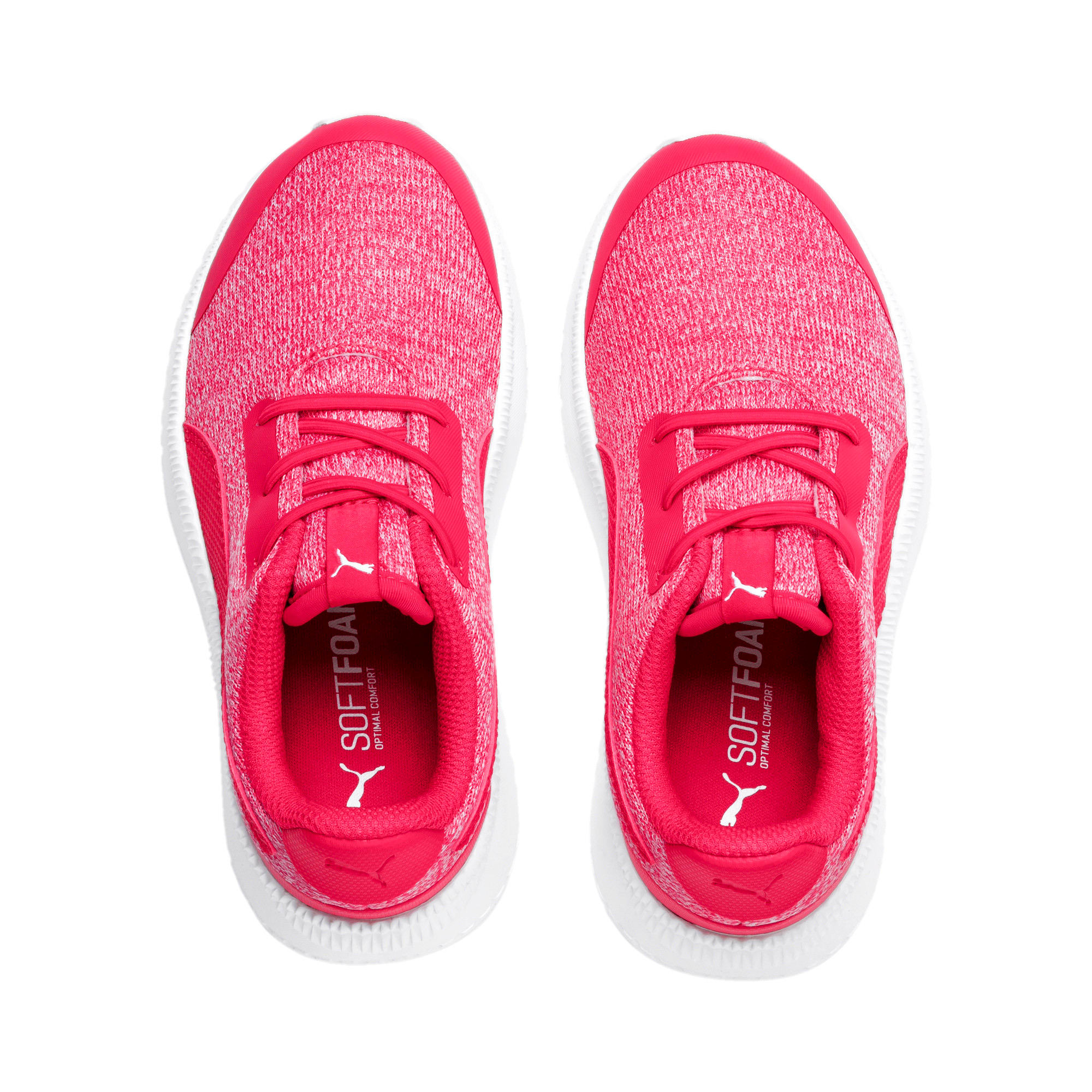 Thumbnail 6 of Pacer Next FS Knit AC Kids Sneaker, Nrgy Rose-Puma White, medium