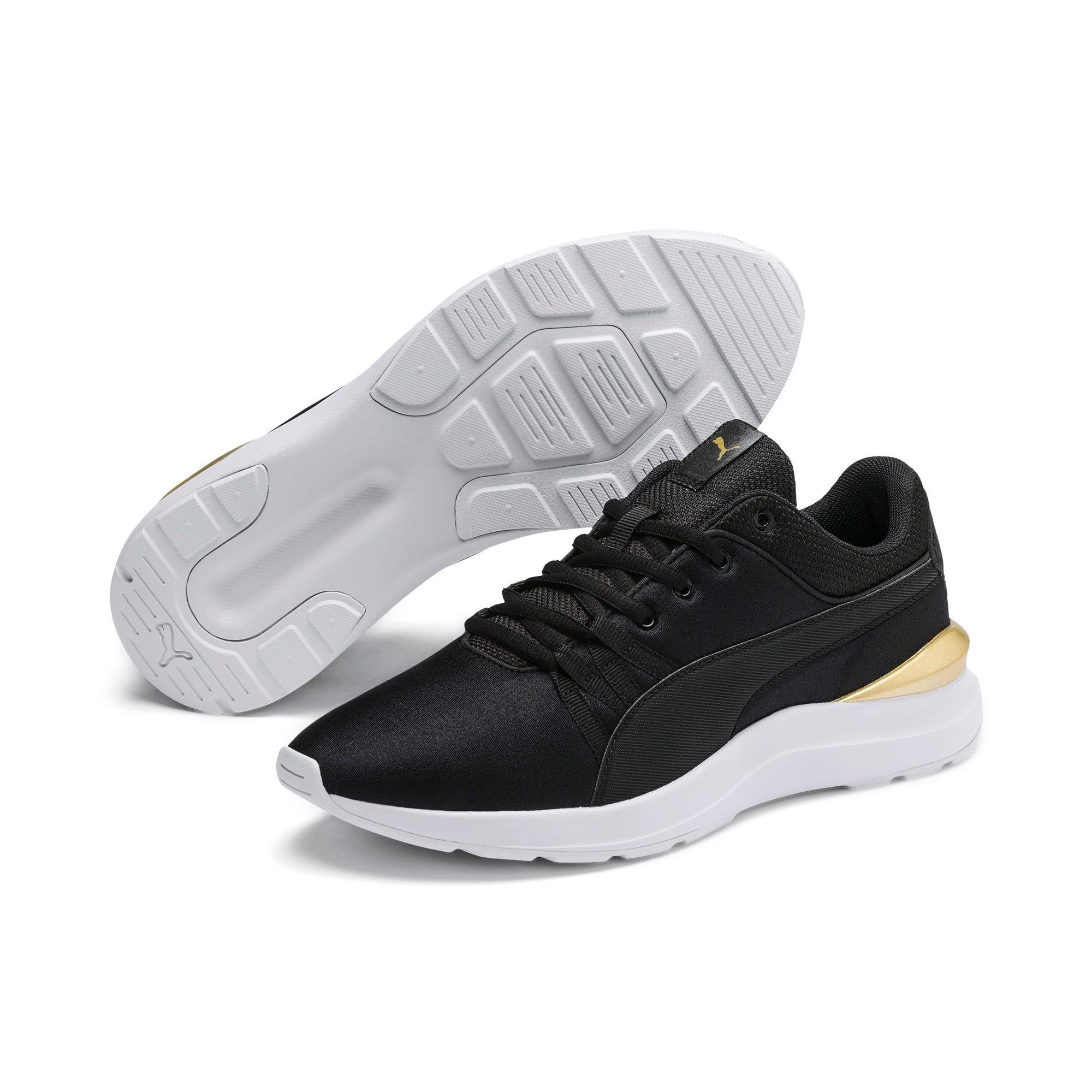 Thumbnail 2 of Adela Satin Women's Sneakers, Puma Black - Puma Black, medium-IND