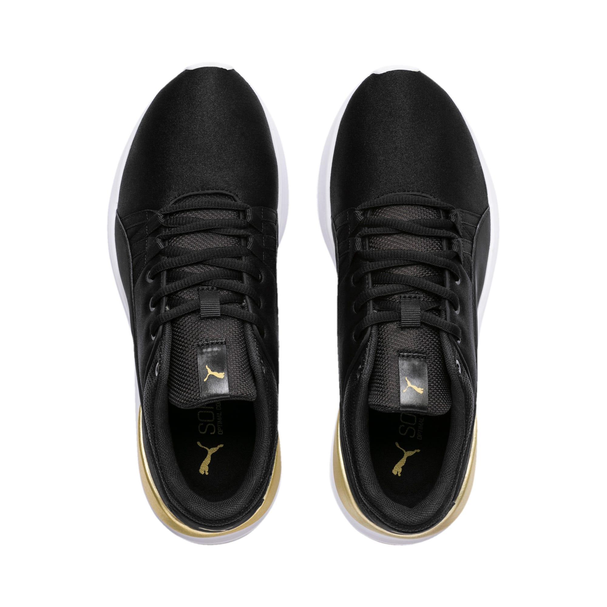 Thumbnail 4 of Adela Satin Women's Sneakers, Puma Black - Puma Black, medium-IND
