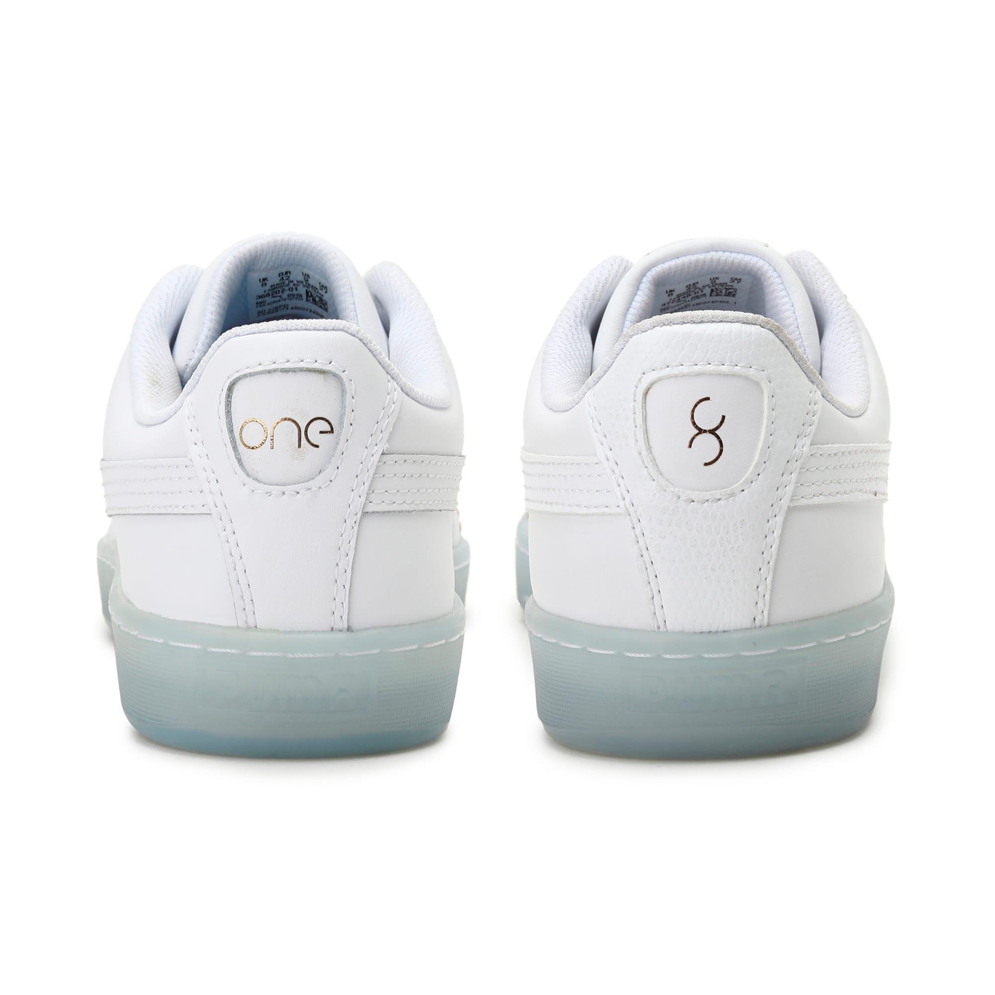 Thumbnail 3 of Basket Classic one8 Unisex Sneakers, White-Team Gold-Bleu Azur, medium-IND