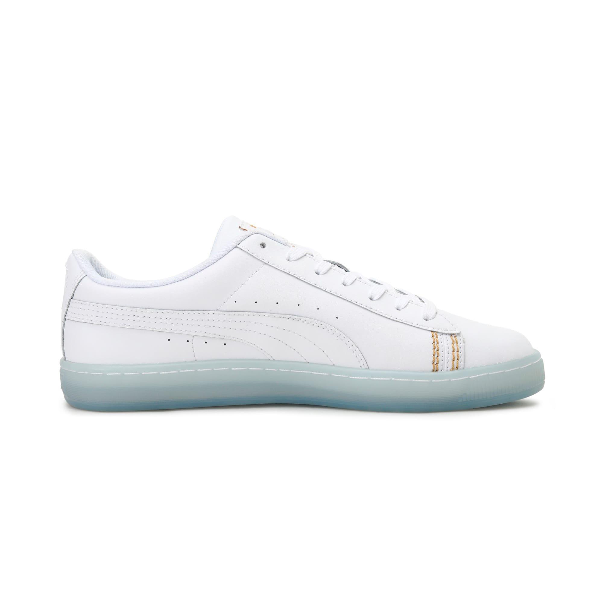 Thumbnail 5 of Basket Classic one8 Unisex Sneakers, White-Team Gold-Bleu Azur, medium-IND