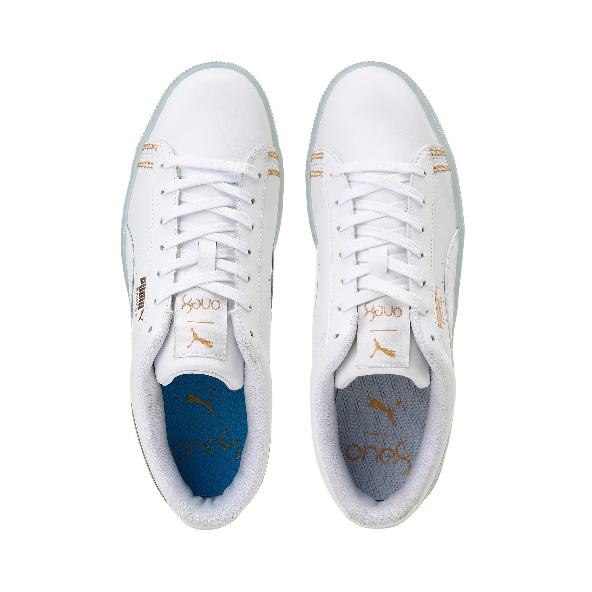 Thumbnail 6 of Basket Classic one8 Unisex Sneakers, White-Team Gold-Bleu Azur, medium-IND