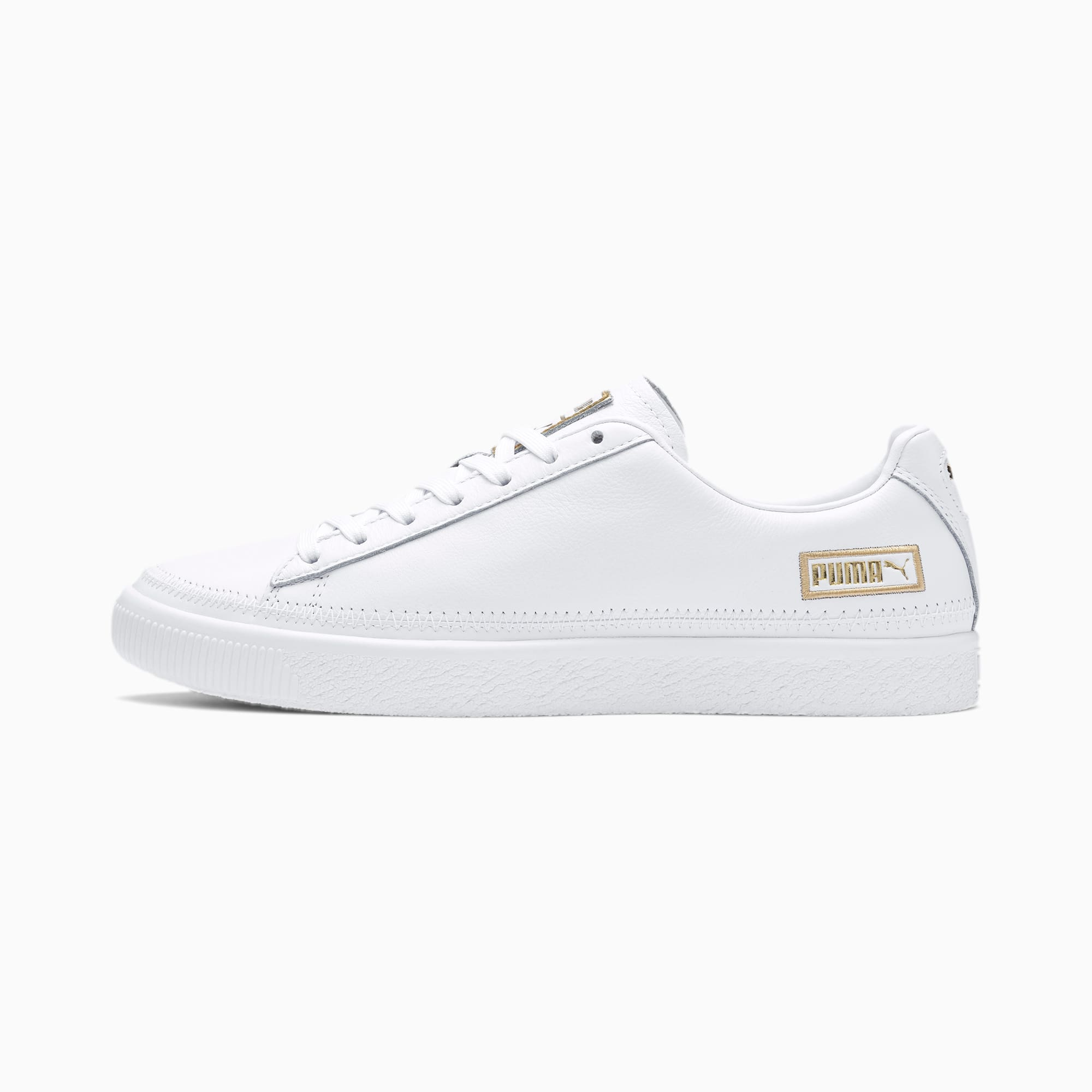 Basket Stitch Sneaker | Puma White Gold | PUMA Shoes | PUMA