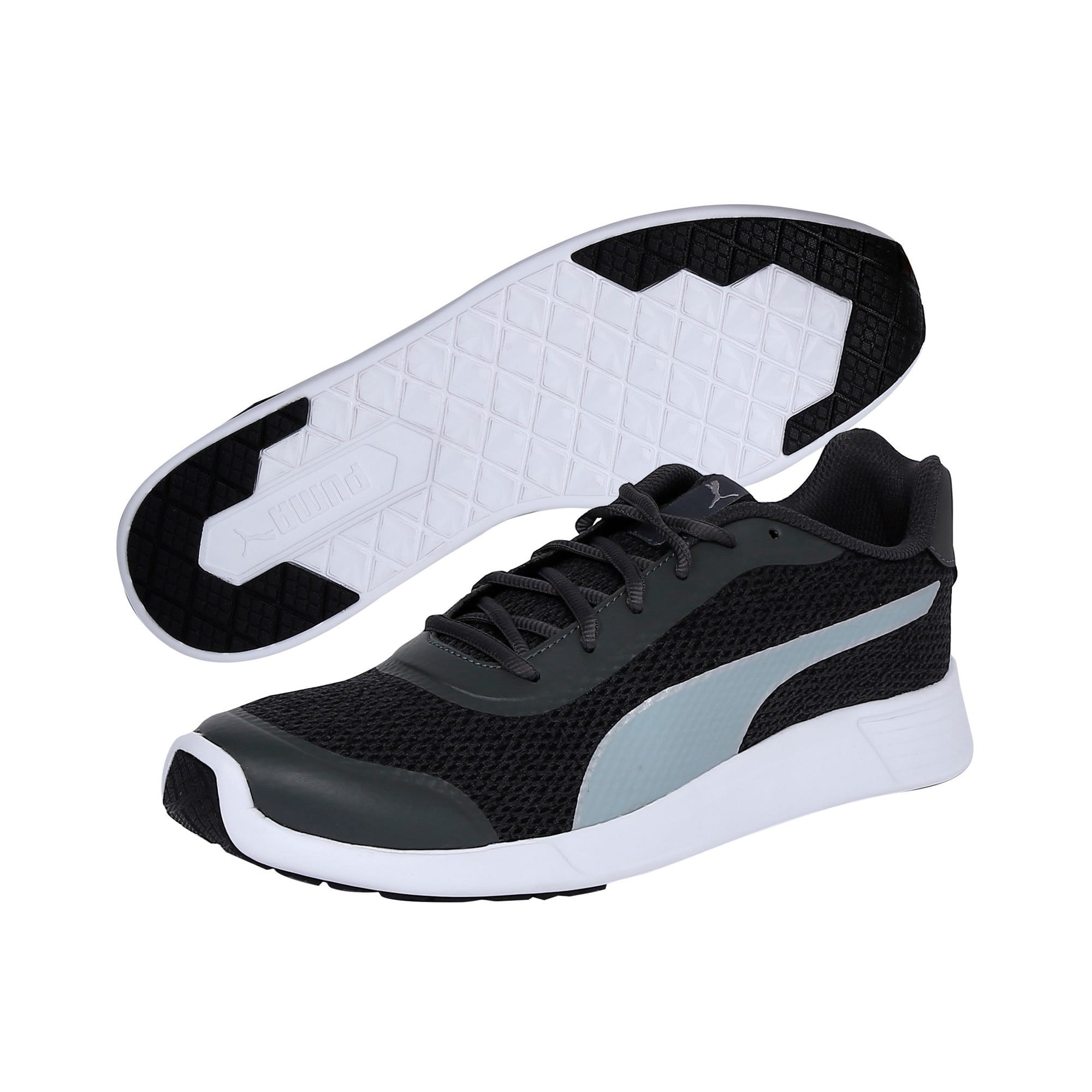 Thumbnail 2 of FST Runner v2 IDP Men's Sportstyle Shoes, Puma White-Quarry-Puma Black, medium-IND