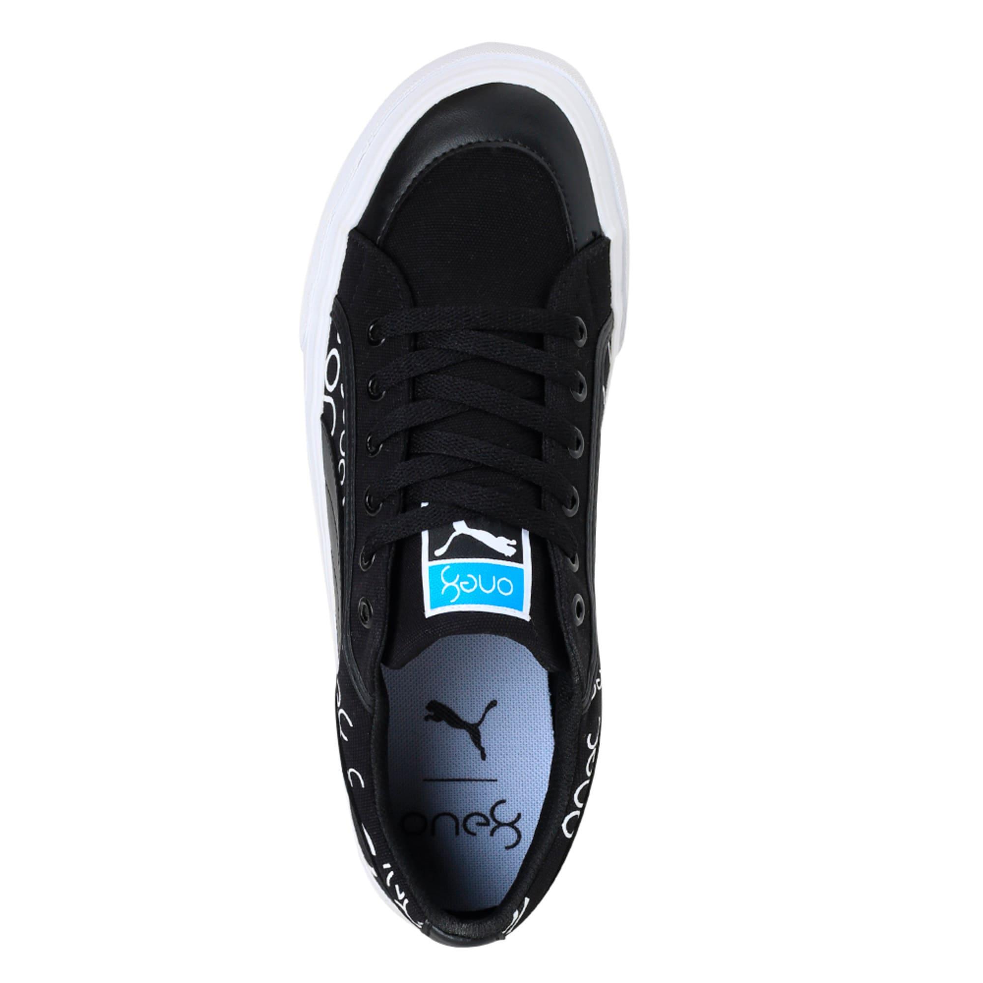 Thumbnail 3 of one8 Men's Sneakers, Black-White-Pomegranate, medium-IND