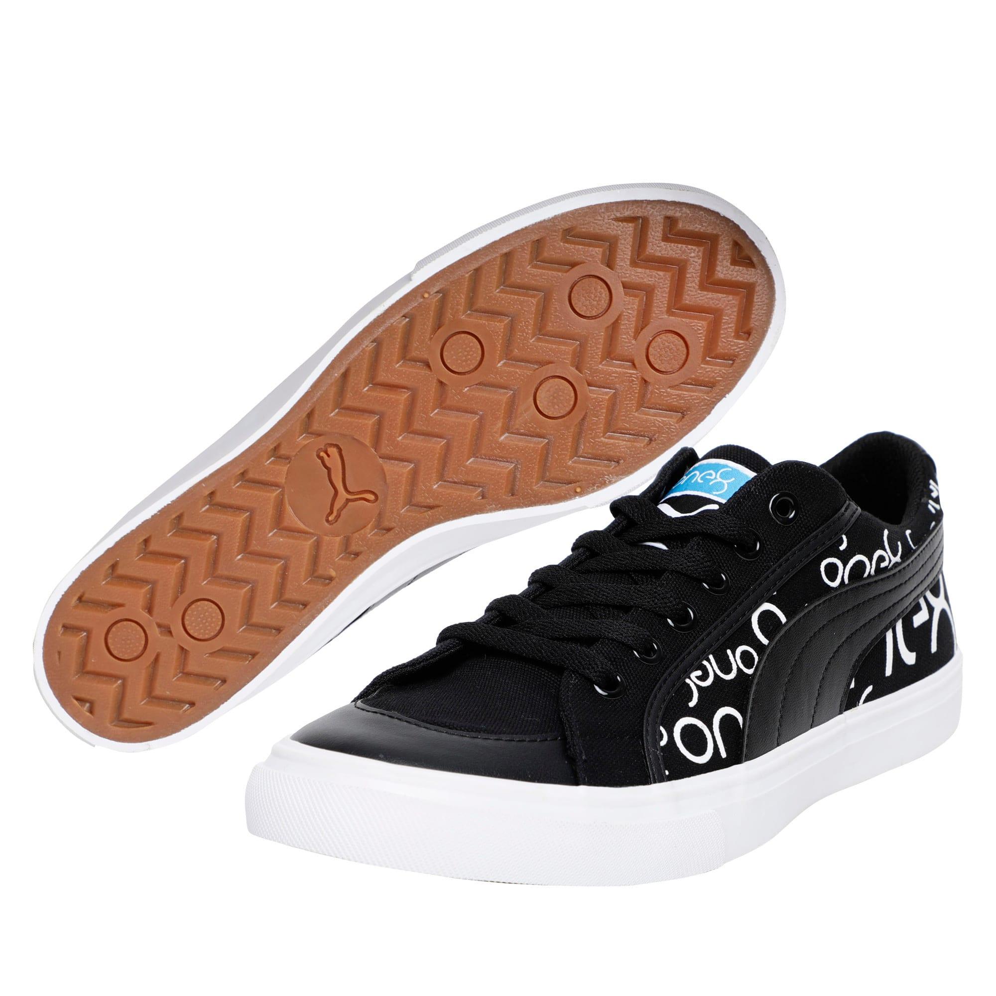Thumbnail 2 of one8 Men's Sneakers, Black-White-Pomegranate, medium-IND