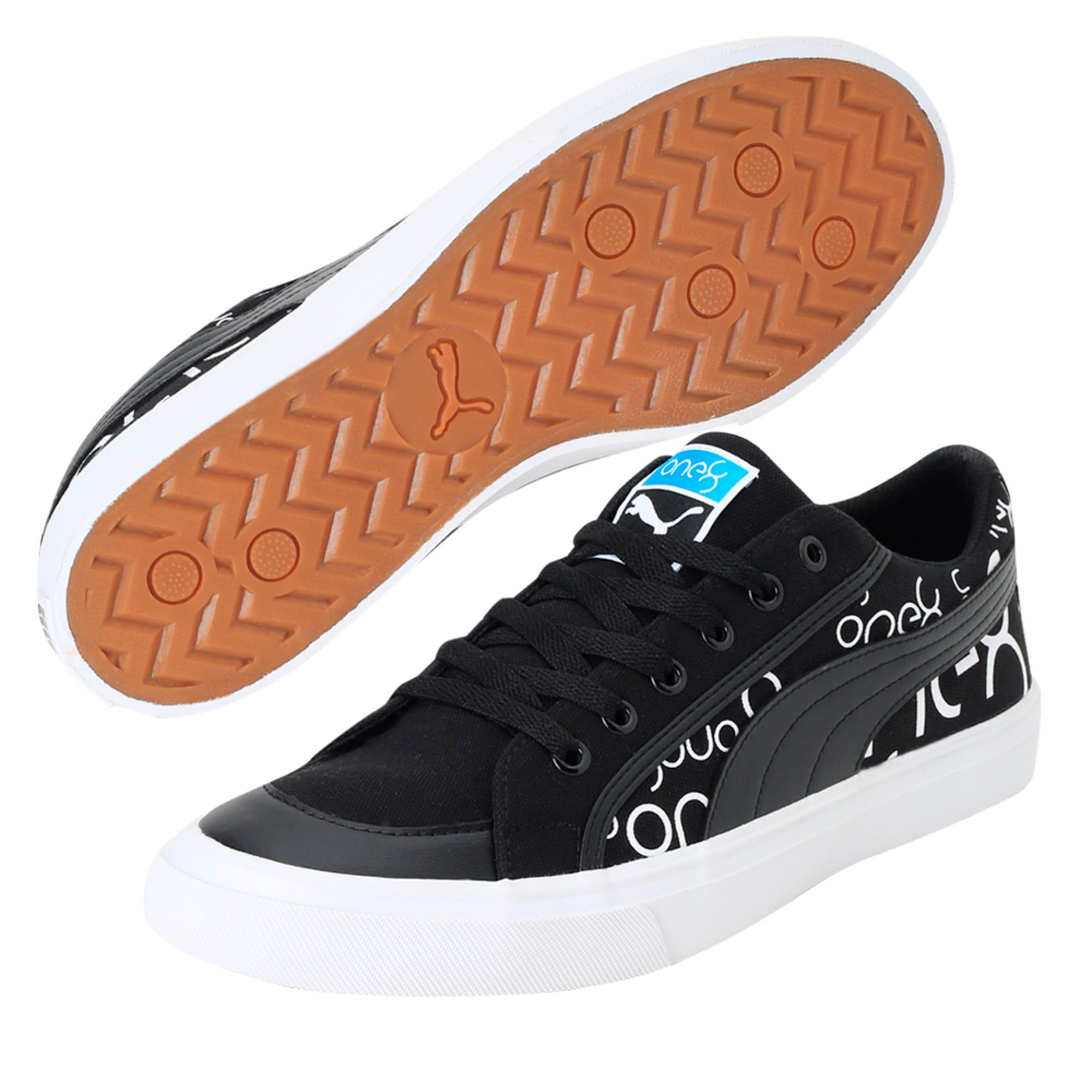Thumbnail 5 of one8 Men's Sneakers, Black-White-Pomegranate, medium-IND