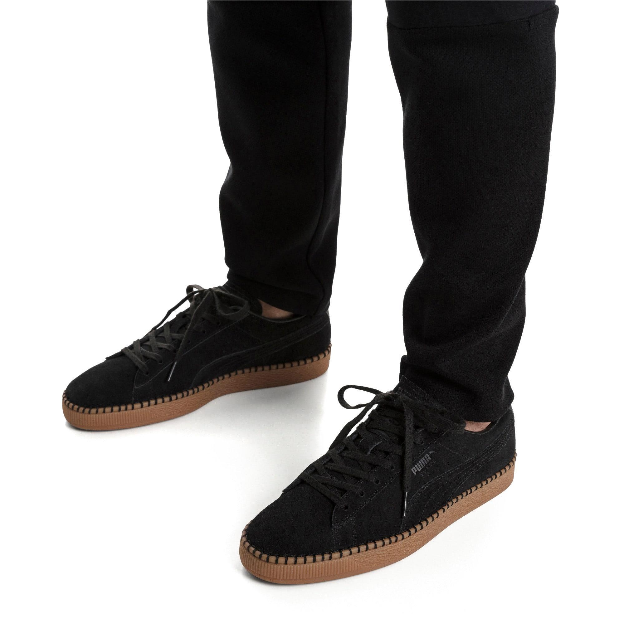 Thumbnail 2 of Suede Classic Blanket Stitch Sneakers, Puma Black-Gum, medium