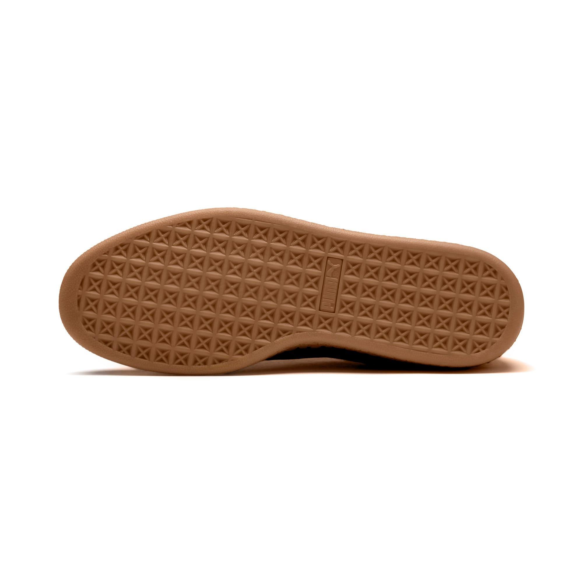 Thumbnail 5 of Suede Classic Blanket Stitch Sneakers, Puma Black-Gum, medium
