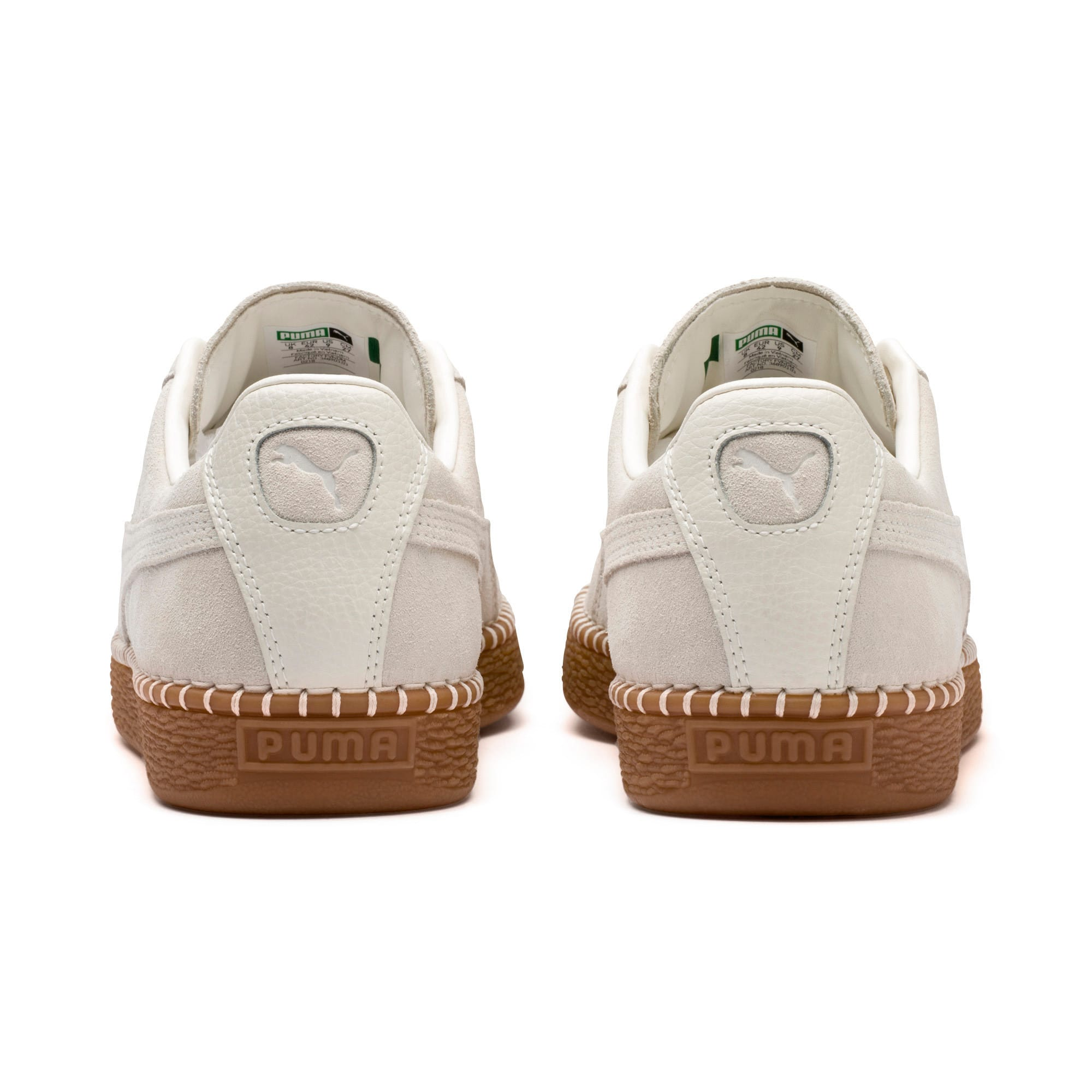 Thumbnail 4 of Suede Classic Blanket Stitch Trainers, Whisper White-Gum, medium-IND