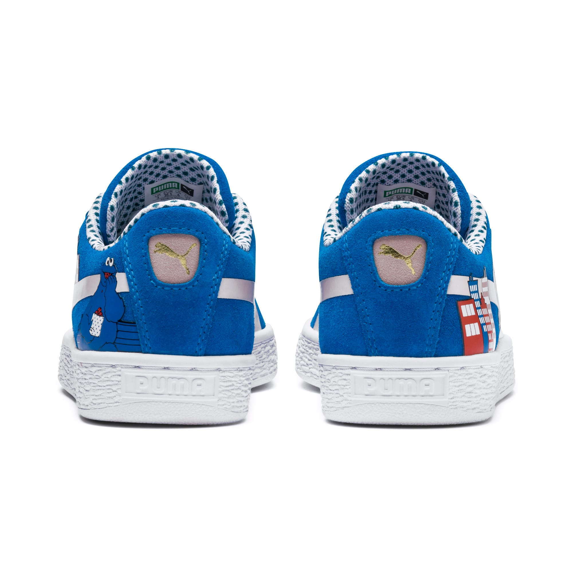Thumbnail 2 of Sesame Street 50 Youth Suede Trainers, Indigo Bunting-Veiled Rose, medium-IND