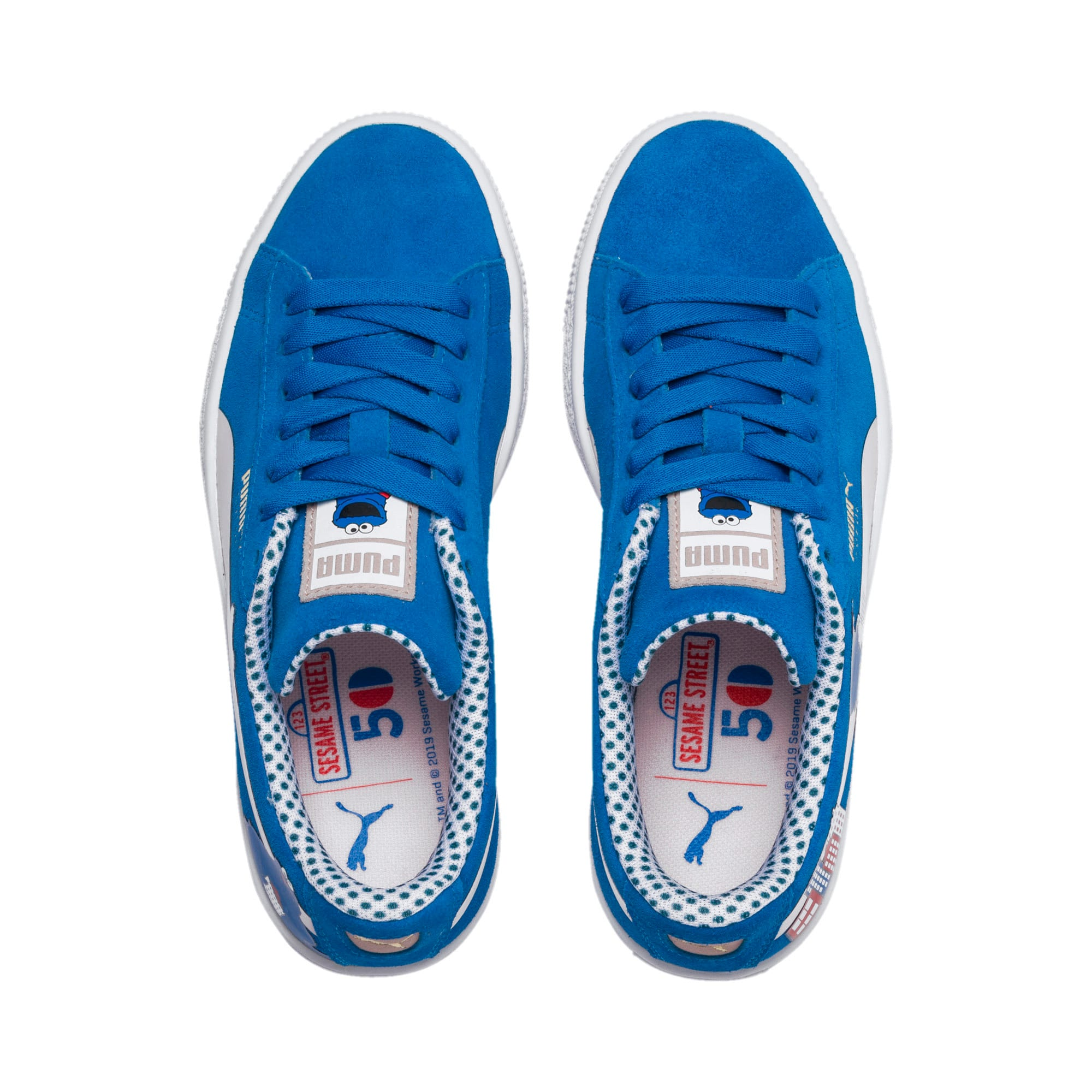 Miniatura 6 de Zapatos deportivosSesame Street 50 Suede para junior, Indigo Bunting-Veiled Rose, mediano