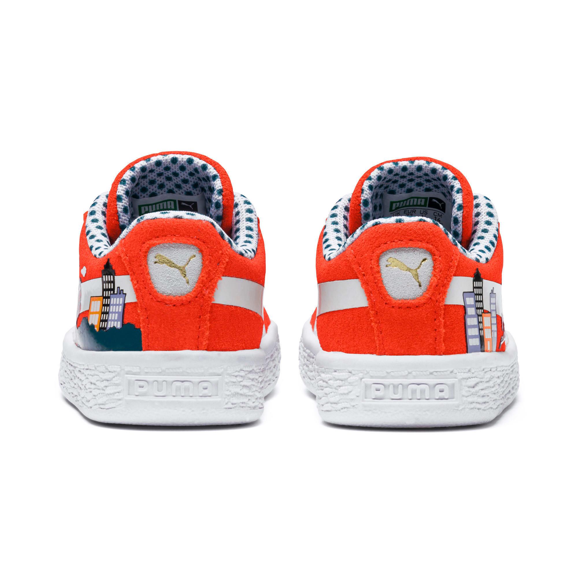 Thumbnail 3 of Sesame Street 50 Suede Toddler Shoes, Cherry Tomato-Puma White, medium