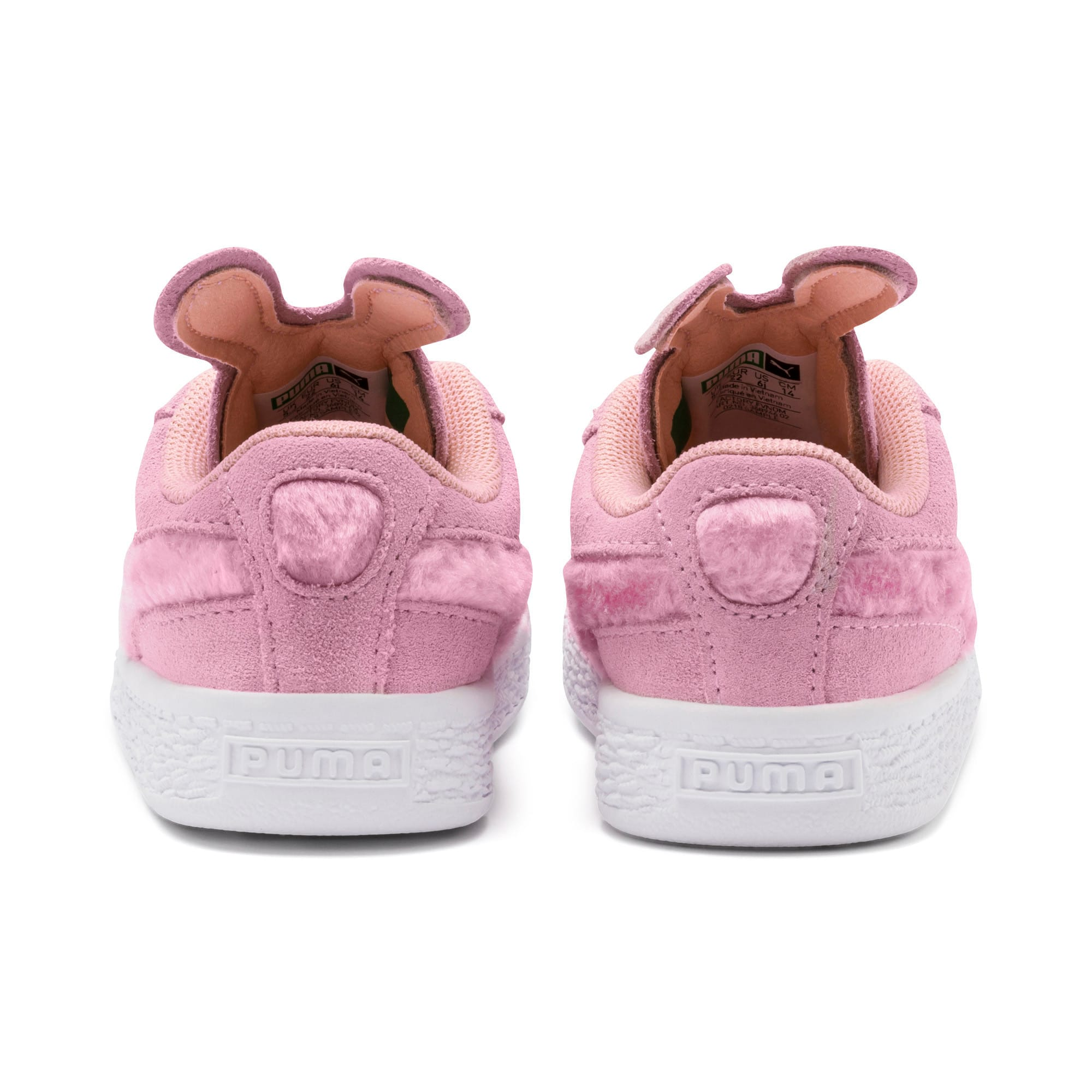 Thumbnail 3 of Suede Easter Alternate Closure Baby Sneaker, Pale Pink-Coral Cloud, medium