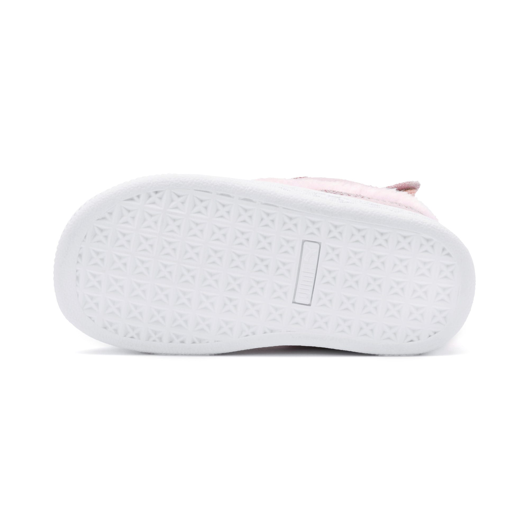 Thumbnail 4 of Suede Easter Alternate Closure Baby Sneaker, Pale Pink-Coral Cloud, medium