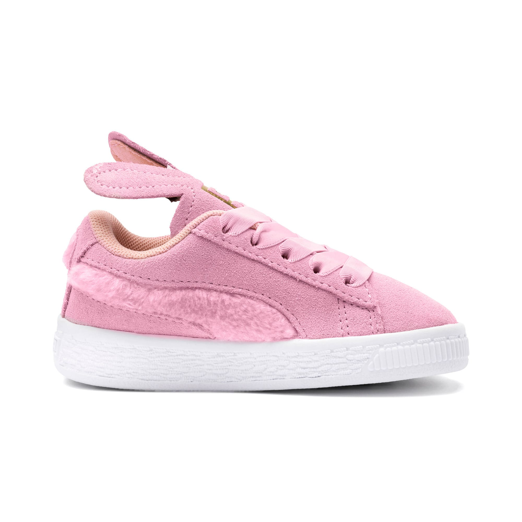Thumbnail 5 of Suede Easter Alternate Closure Baby Sneaker, Pale Pink-Coral Cloud, medium